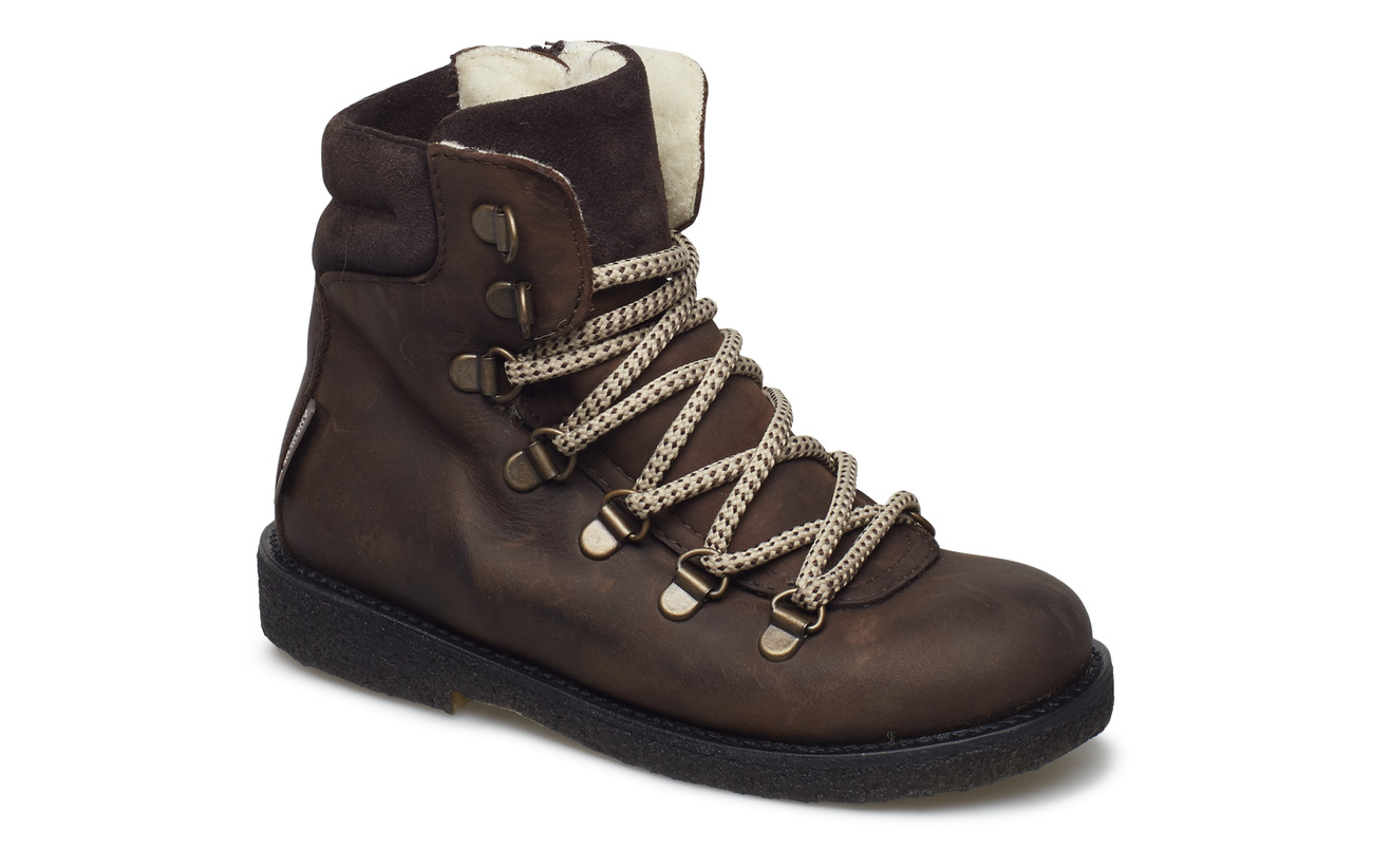 ANGULUS Boots - flat - with velcro - 1660/2193/1660 BROWN/B./B.
