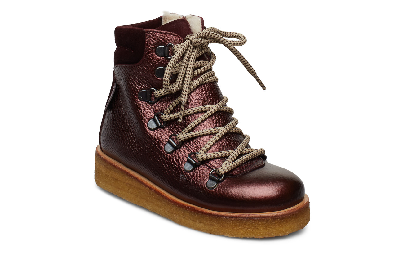 ANGULUS Boots - flat - with velcro - 1536/2195/1445 BORDEAUX SHINE/