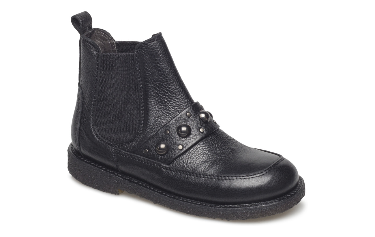 ANGULUS Booties - flat - with elastic - 1933/019 BLACK/BLACK