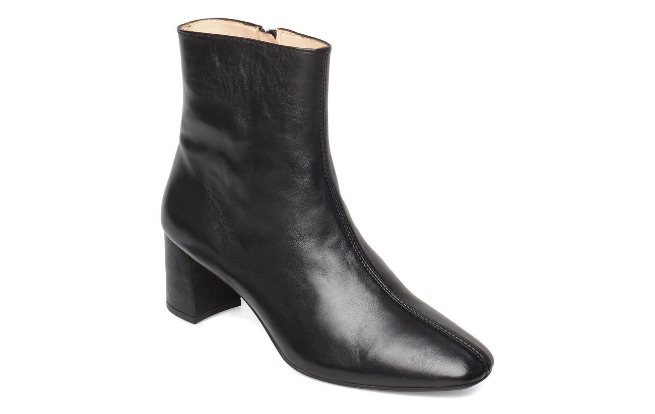 ANGULUS Bootie - block heel - with zippe - 1604 BLACK