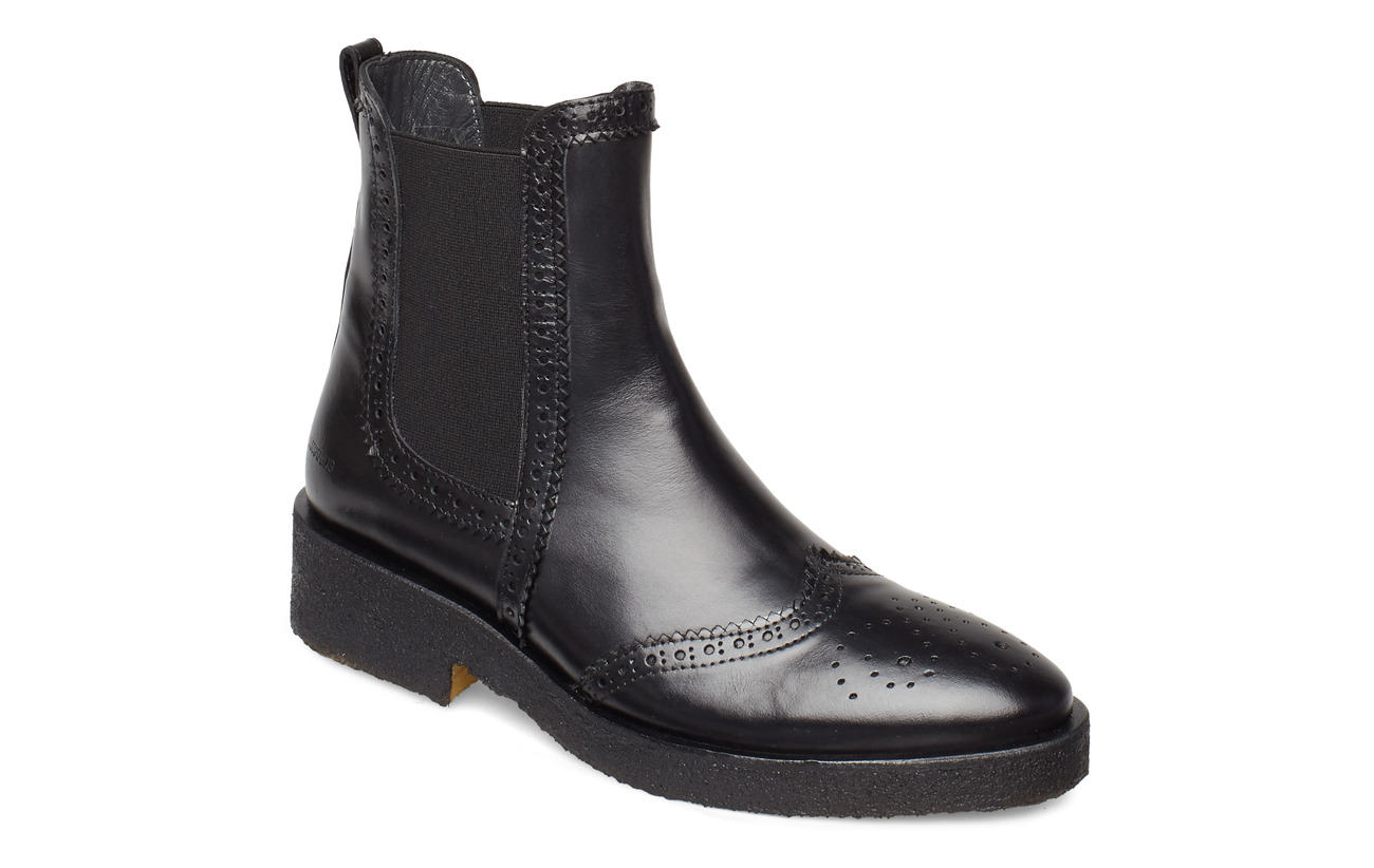ANGULUS Booties - flat - with elastic - 1835/001 BLACK/BLACK