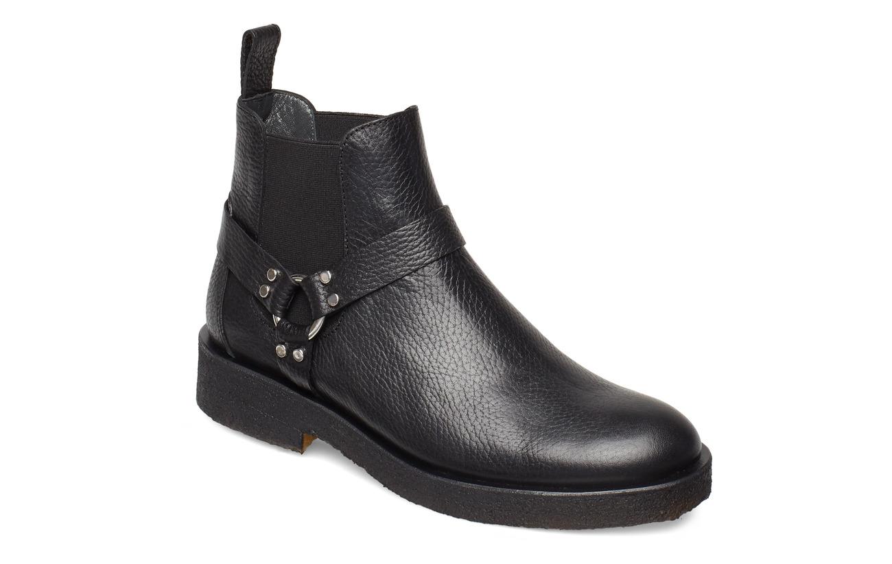 ANGULUS Booties - flat - with elastic - 2504/001 BLACK/BLACK
