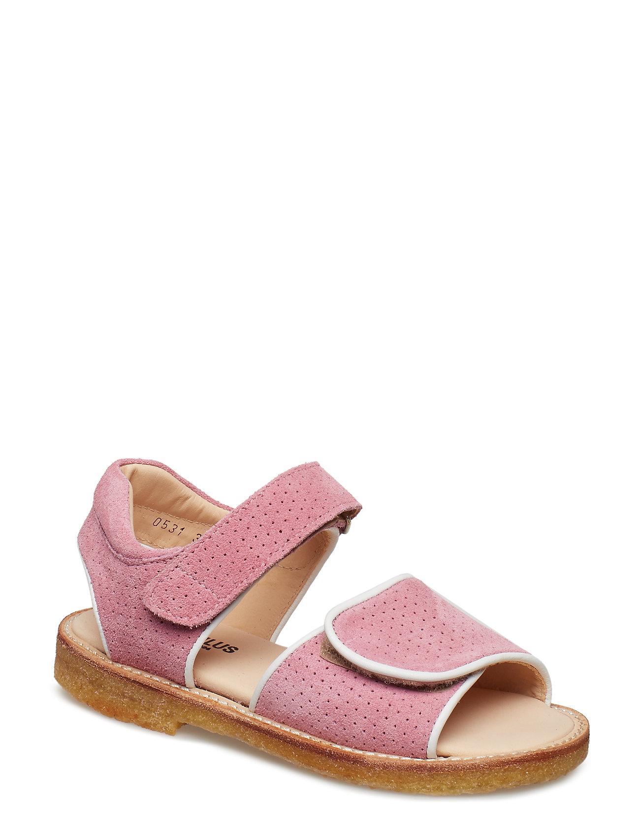 ANGULUS Sandals - flat - 1521/2204 WHITE/ROSE