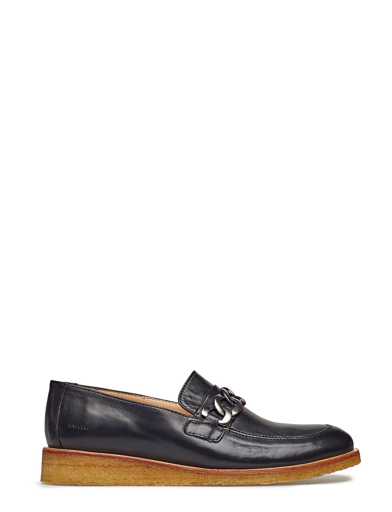 71743c2d66b Loafer - Flat loafers & mokkasiner fra ANGULUS til dame i 1604 BLACK ...