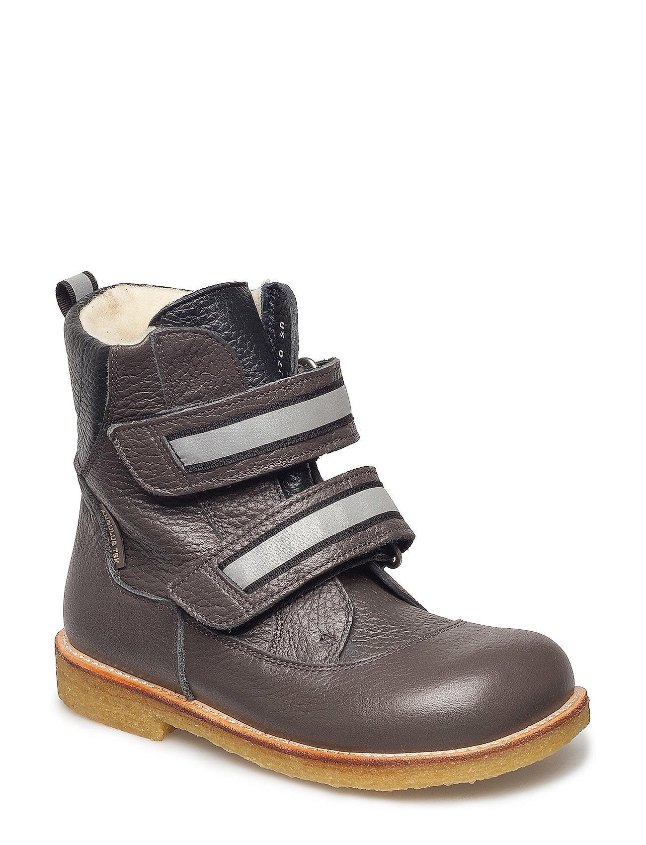 Image of Boots - Flat - With Velcro Vinterstøvler Med Burrebånd Grå ANGULUS (3046212023)