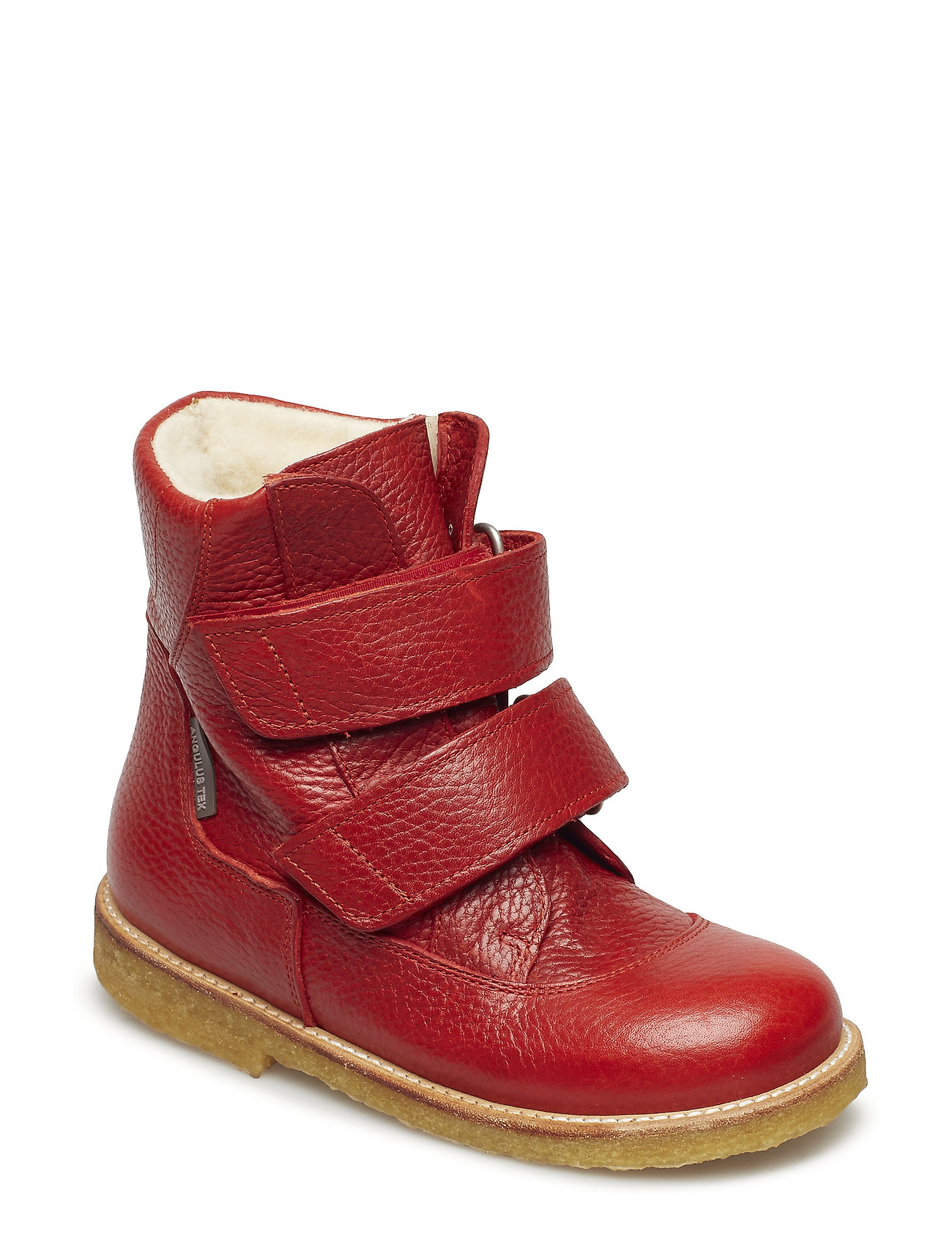 ANGULUS Boots - flat - with velcro - 2510 DUSTY RED