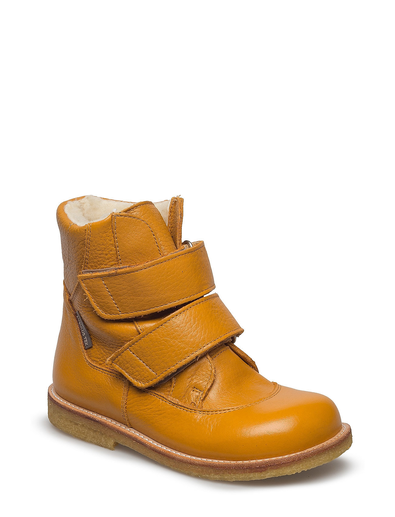 ANGULUS Boots - flat - with velcro - 2554 OCHER