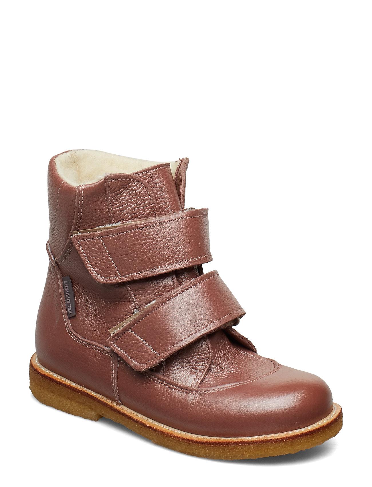 ANGULUS Boots - flat - with velcro - 2636 ROSE SHINE