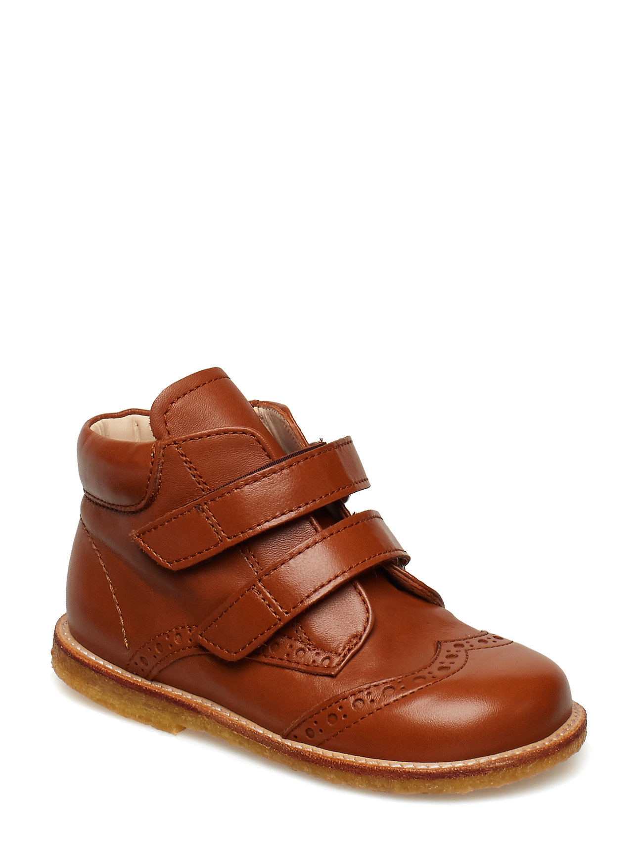 ANGULUS Shoes - flat - with velcro - 1431 COGNAC