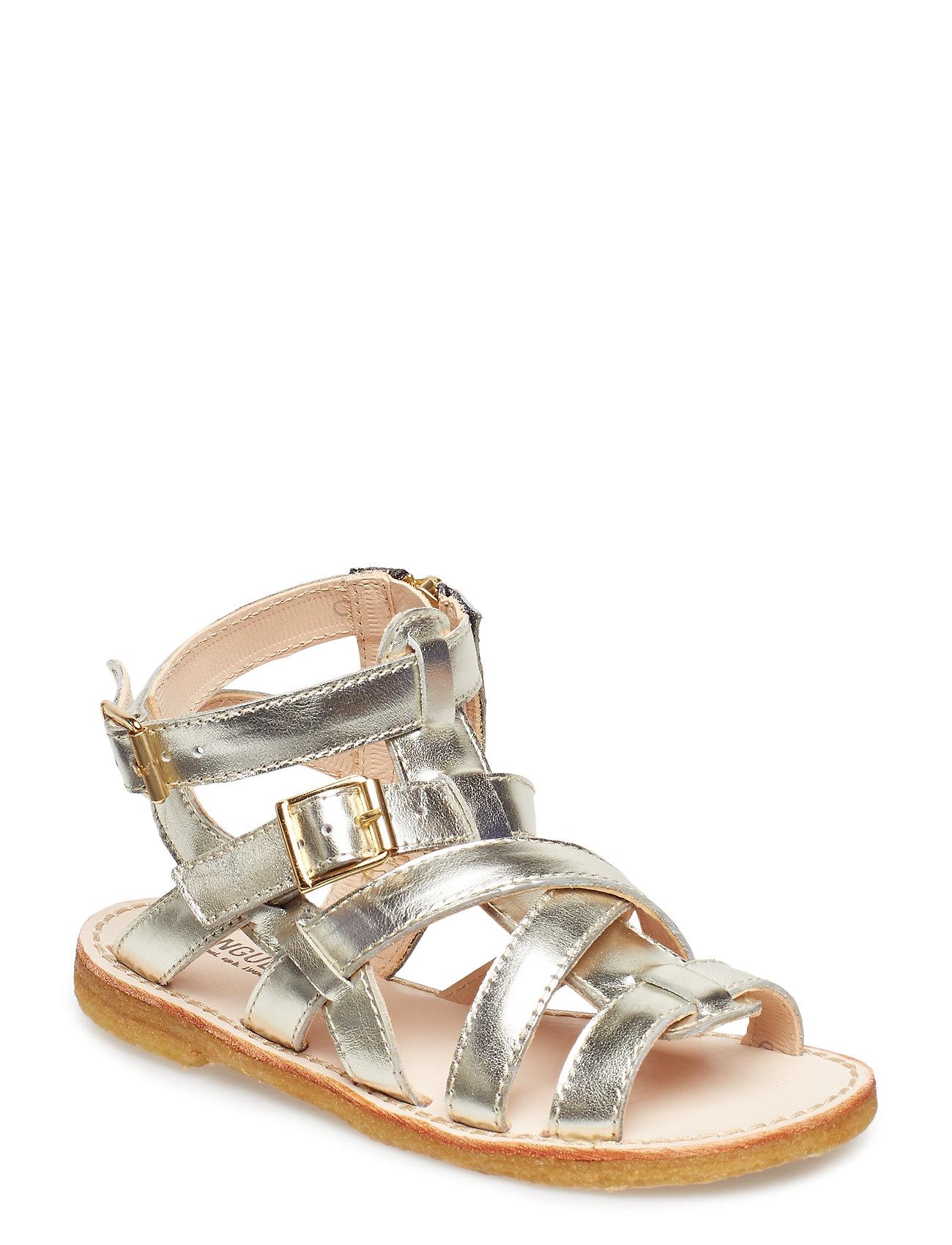 ANGULUS Sandal w. zipper - 1325 CHAMPAGNE