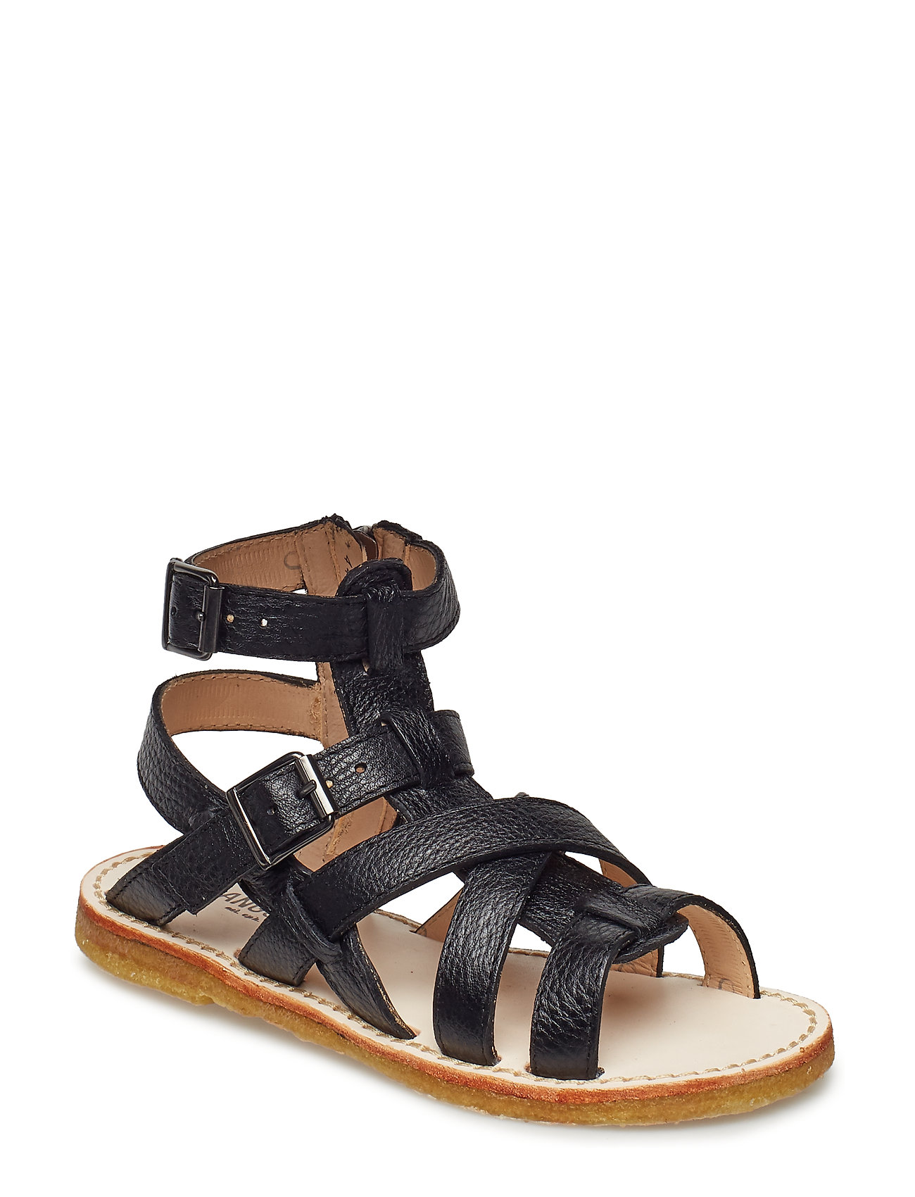 ANGULUS Sandal w. zipper - 1933 BLACK
