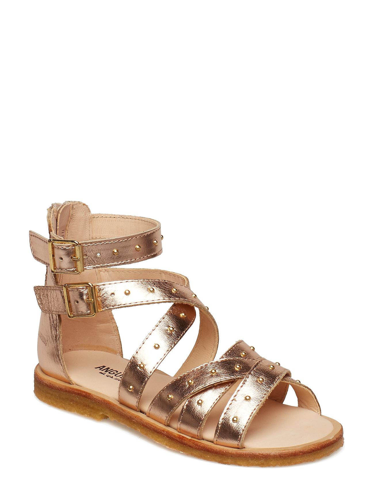 ANGULUS Sandal med studs and zipper - 1311 ROSE COPPER
