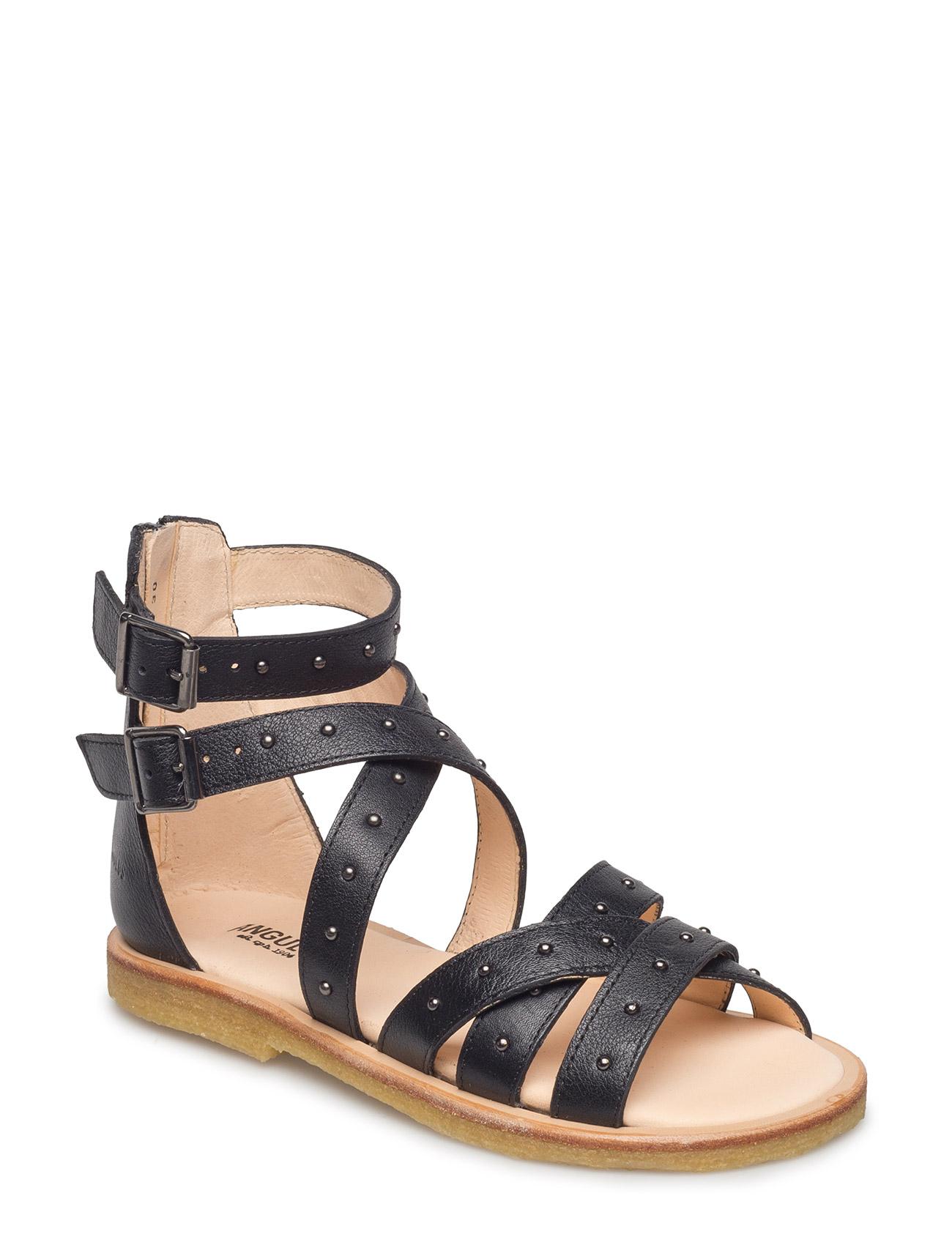 ANGULUS Sandal med studs and zipper - 1933 BLACK