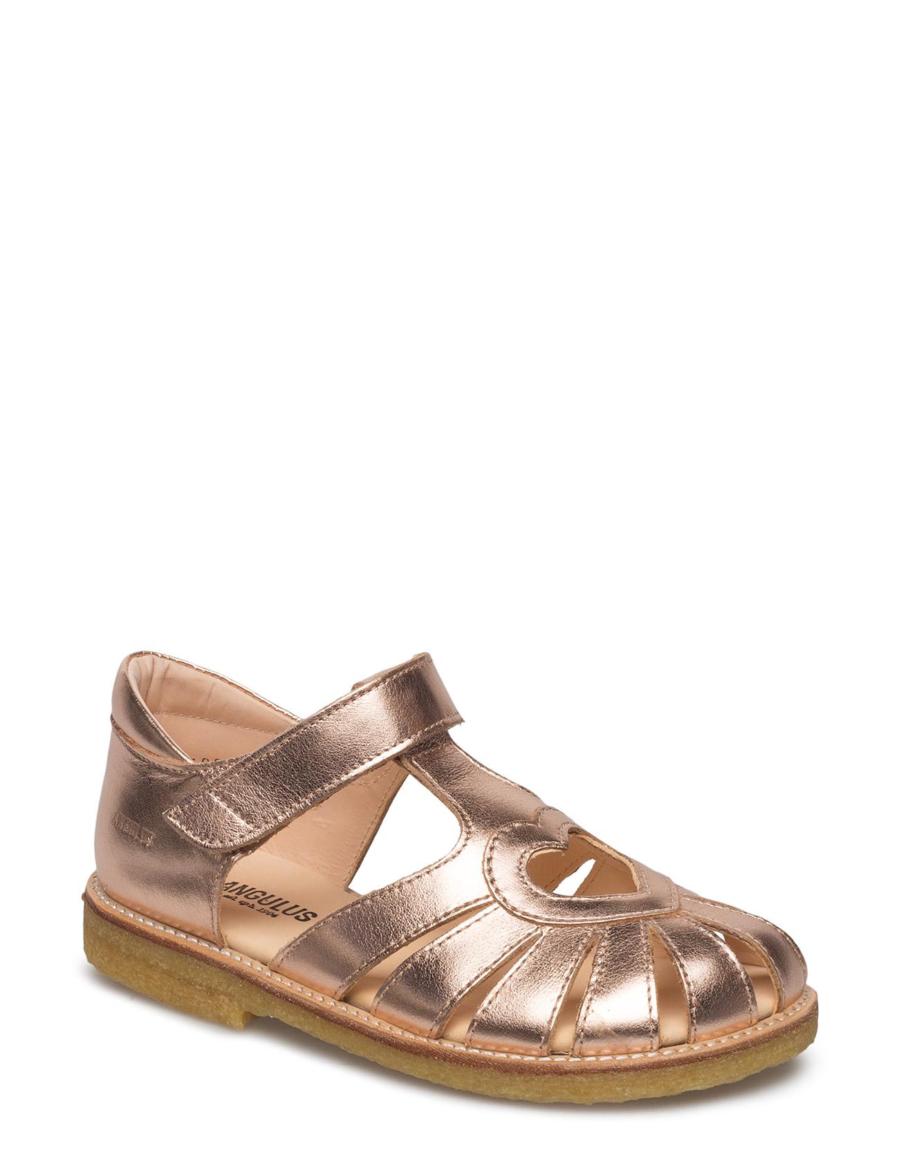Sandal With Heart Detail Sandaler Guld ANGULUS