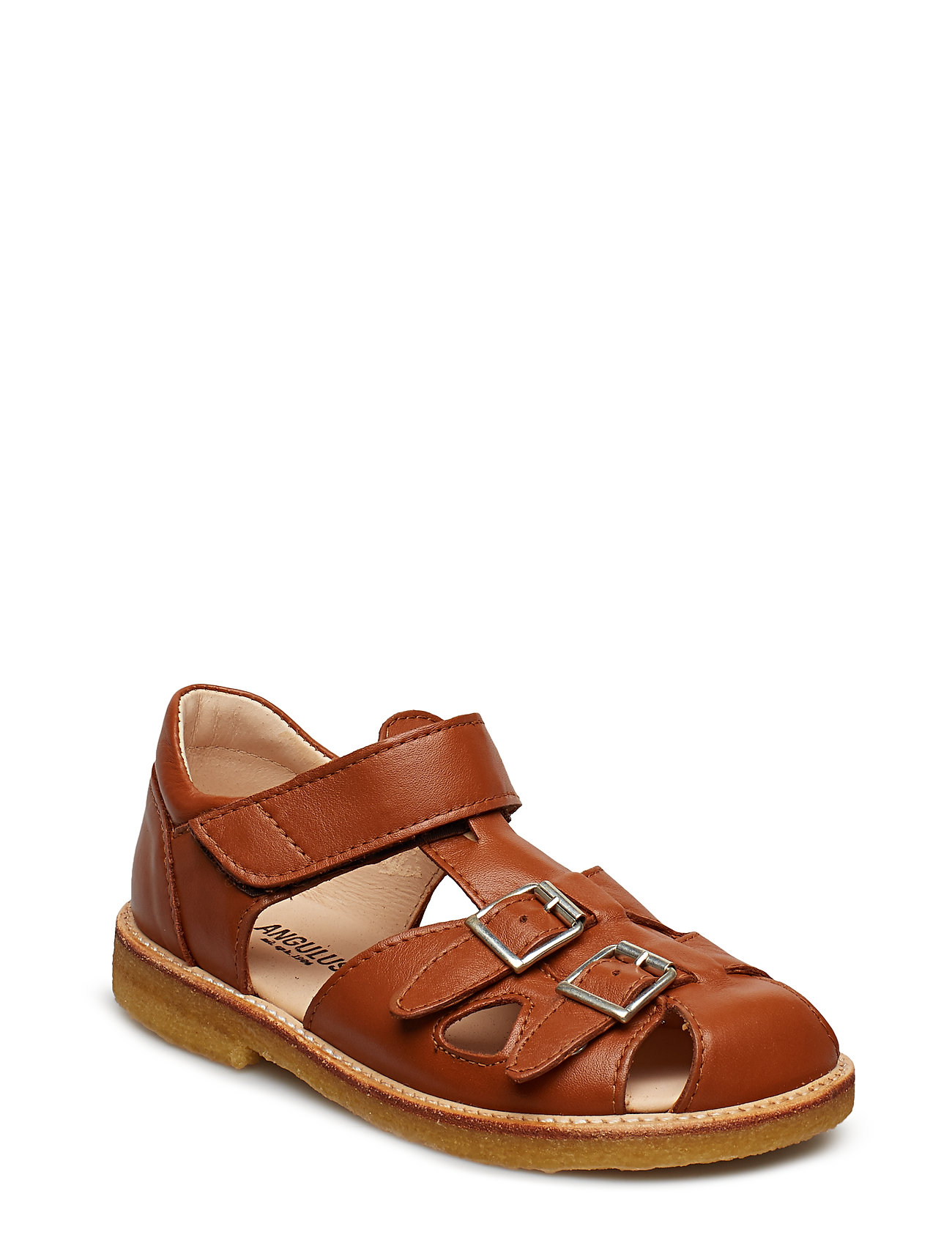 ANGULUS Sandal with two buckles in front - 1431 COGNAC