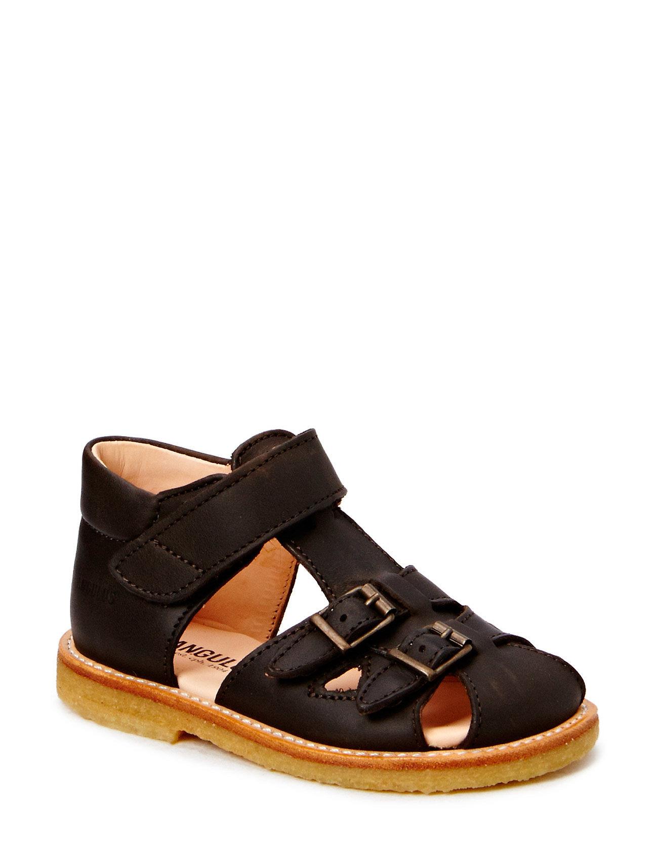 ANGULUS Sandals - flat - 1660 DARK BROWN