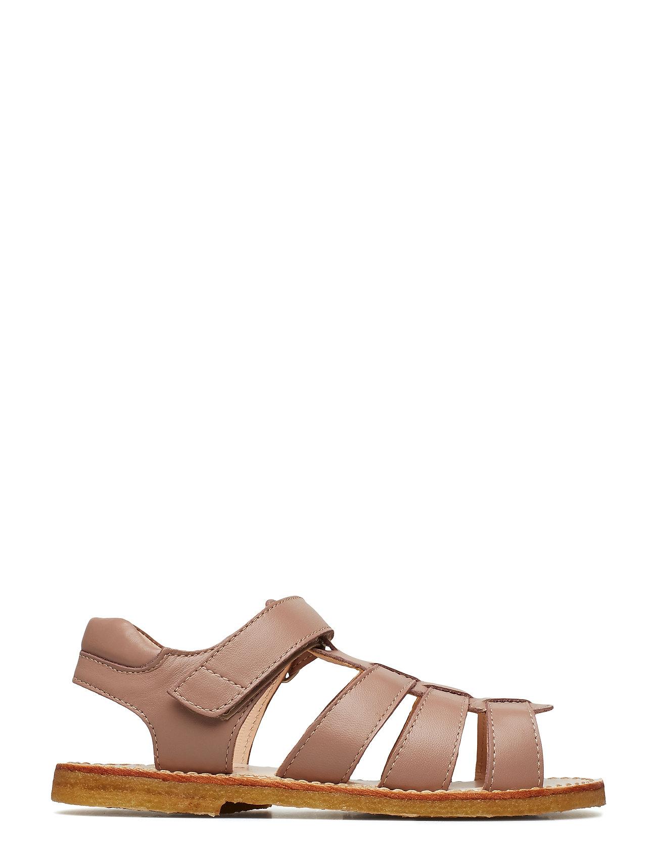 Sandals Flat Open Toe Op Sandaler Sølv ANGULUS