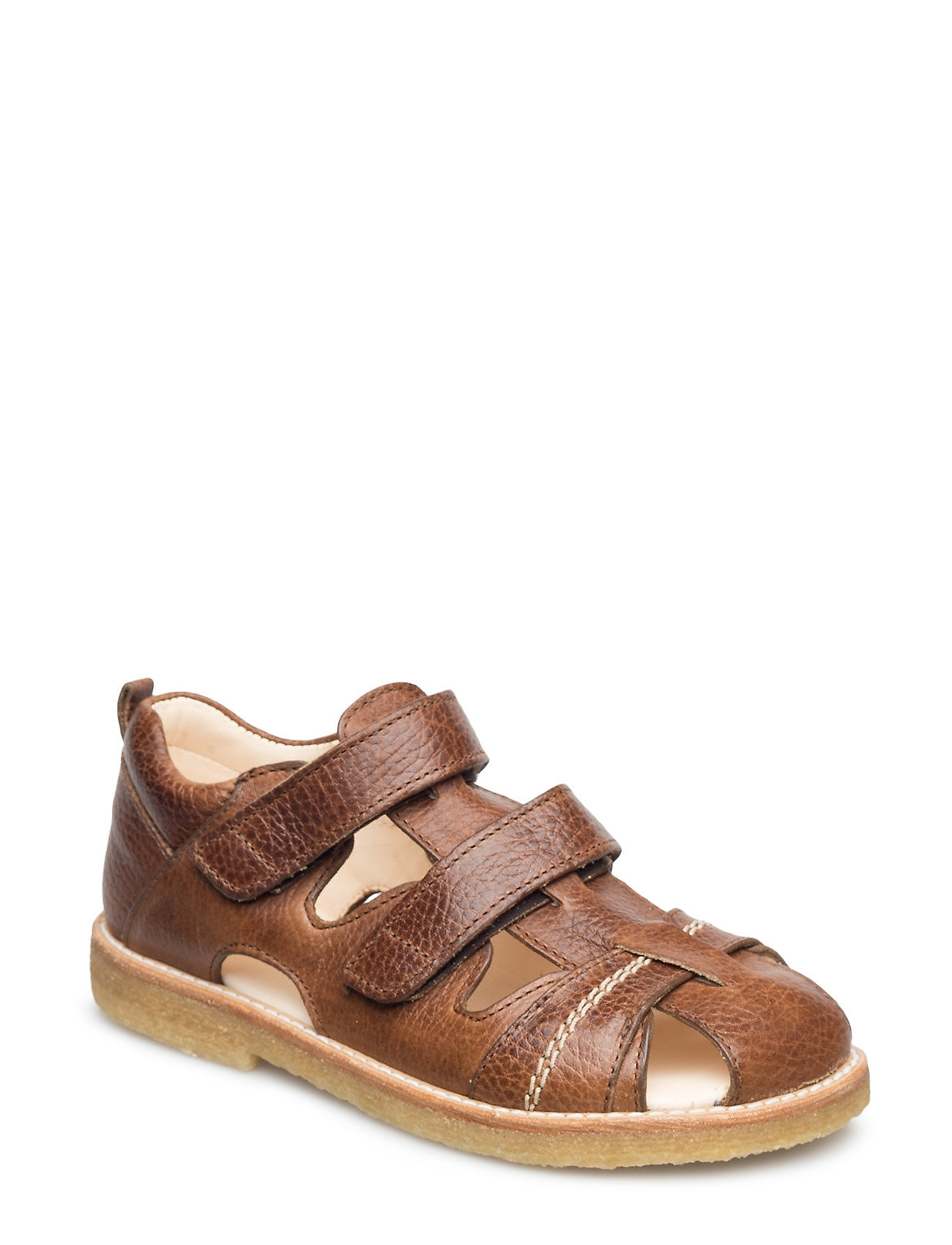 ANGULUS Sandal with 2 velcro closures - 2509 COGNAC