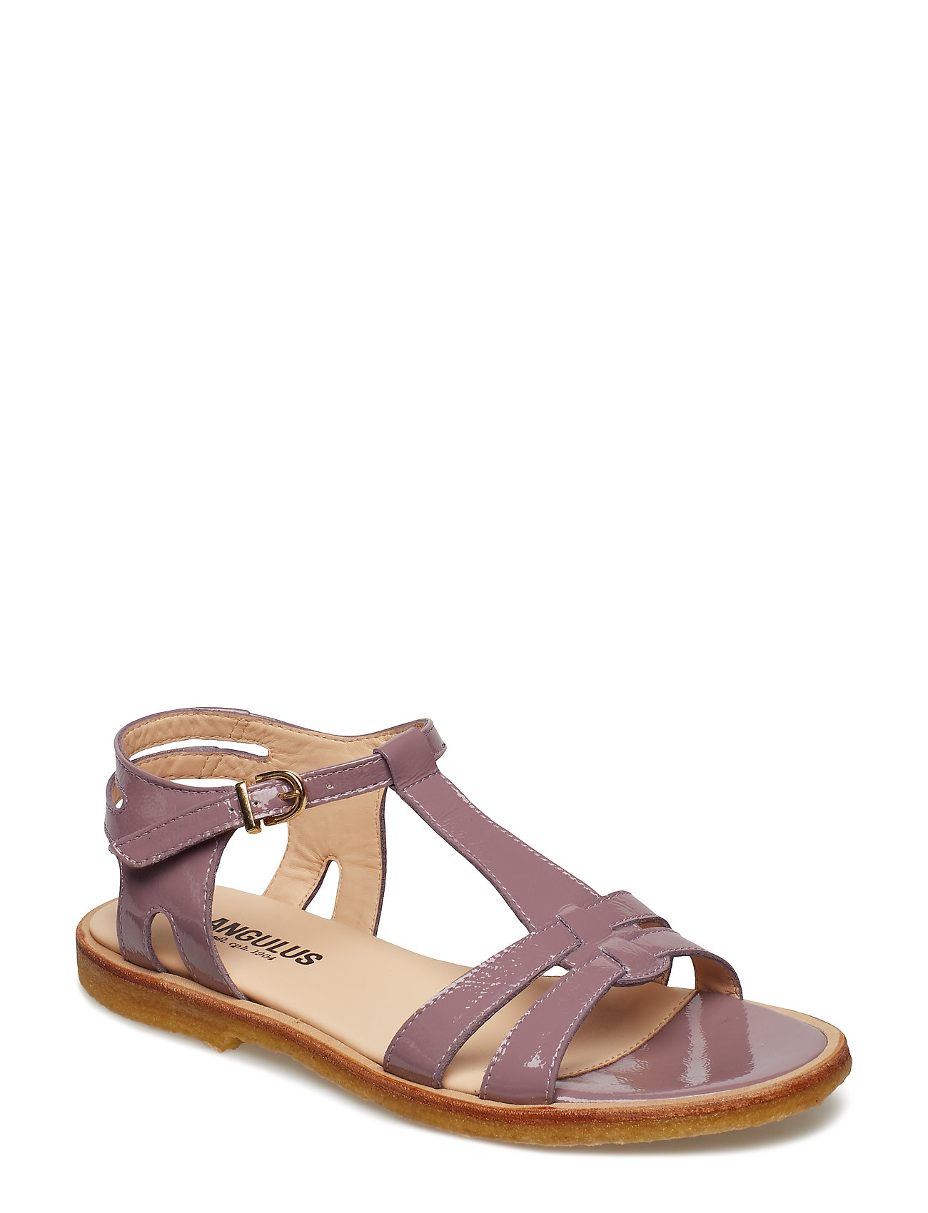 ANGULUS Sandal with leather sole - 1391 DUSTY FUCHSIA