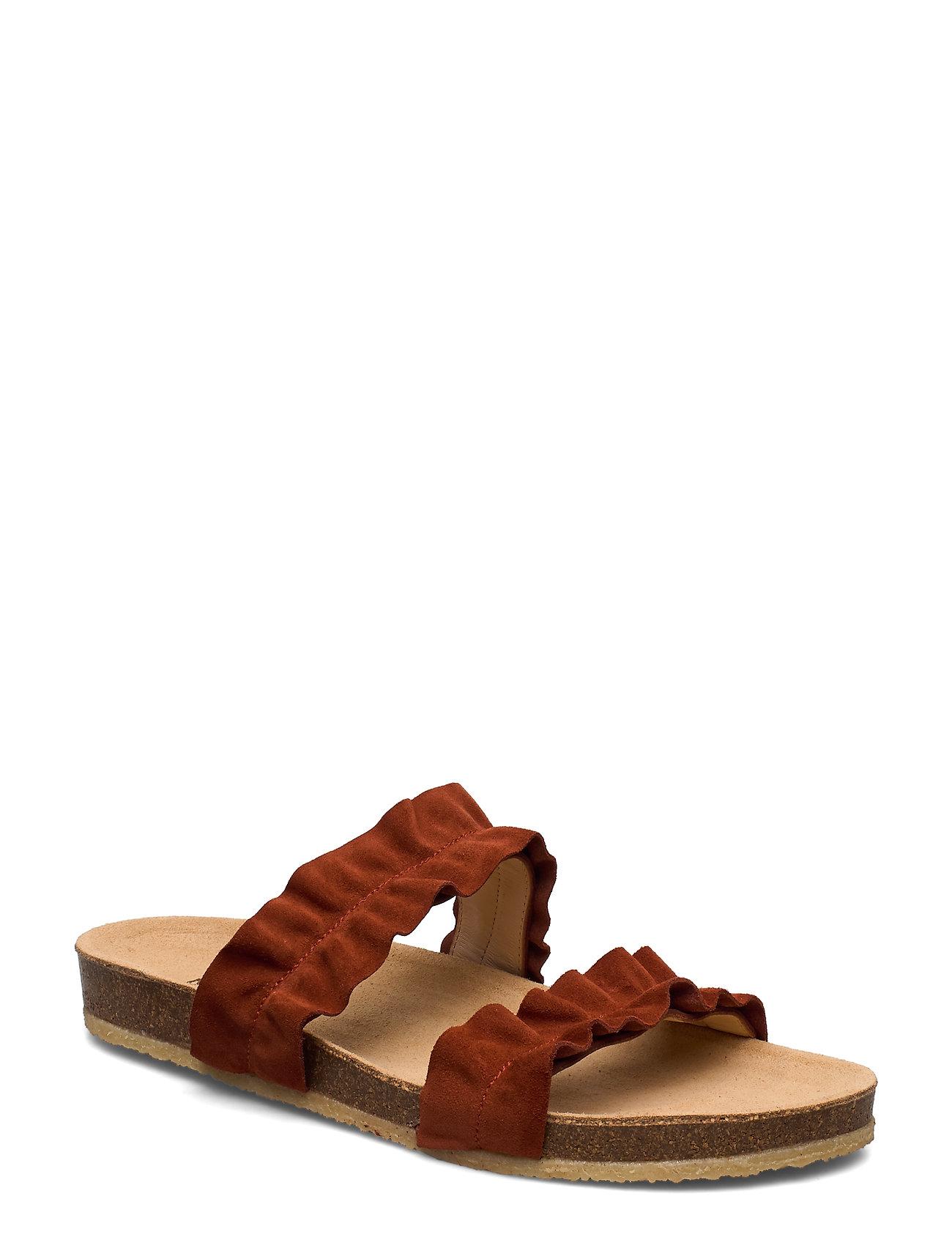 Image of Sandals - Flat - Open Toe - Op Shoes Summer Shoes Flat Sandals Brun ANGULUS (3336494531)