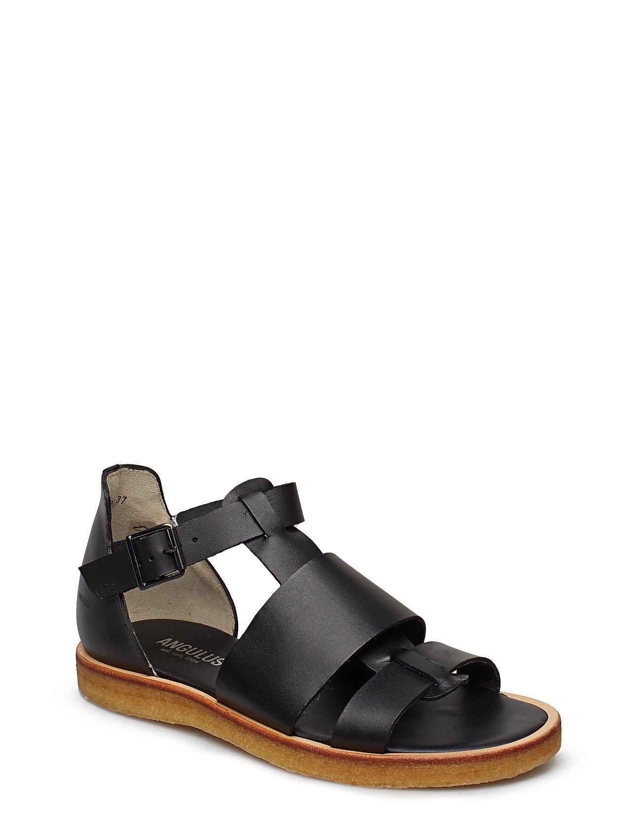 ANGULUS Sandals - flat - open toe - op - 1785 BLACK