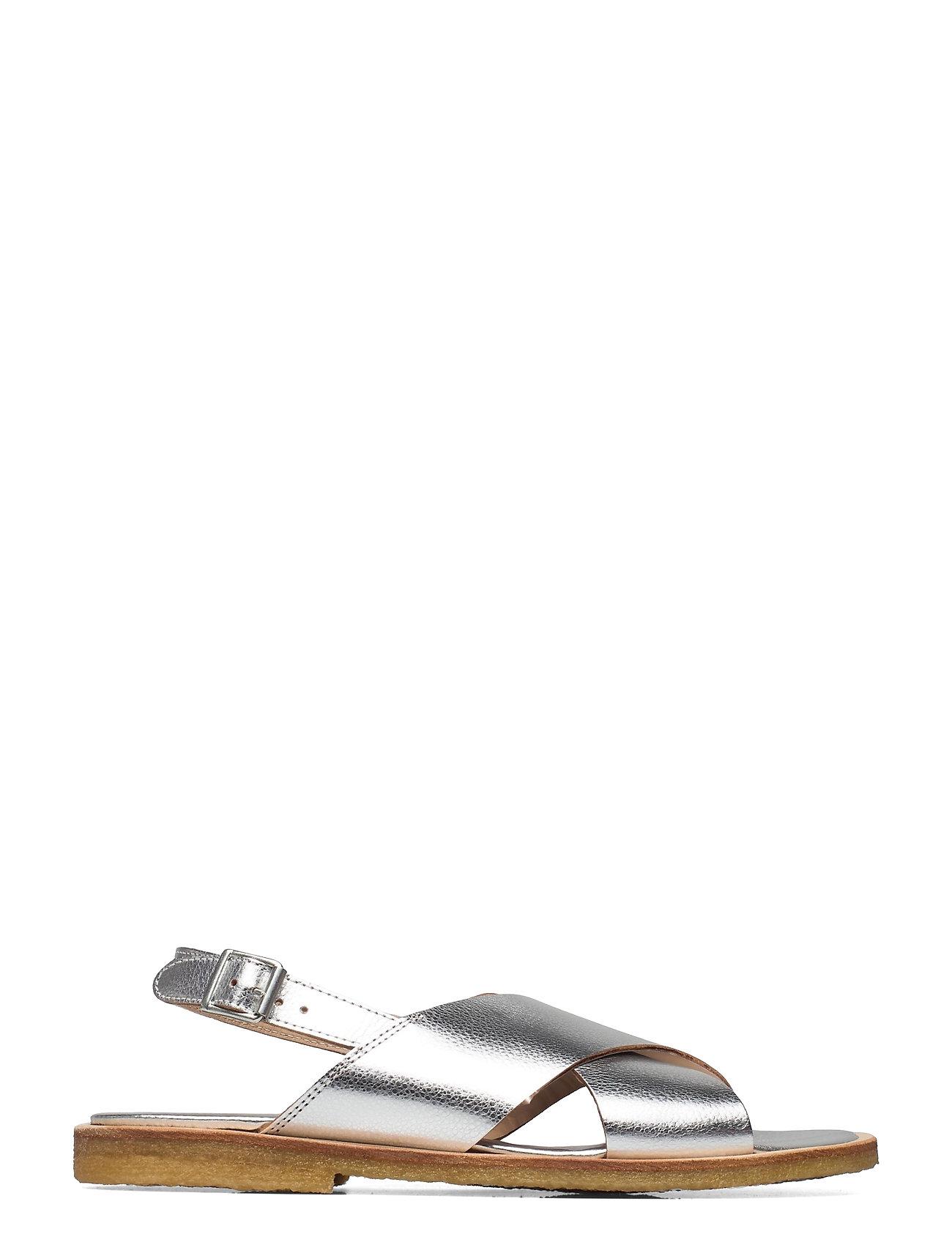 Sandals - Flat - Open Toe - Op Shoes Summer Shoes Flat Sandals Sølv ANGULUS