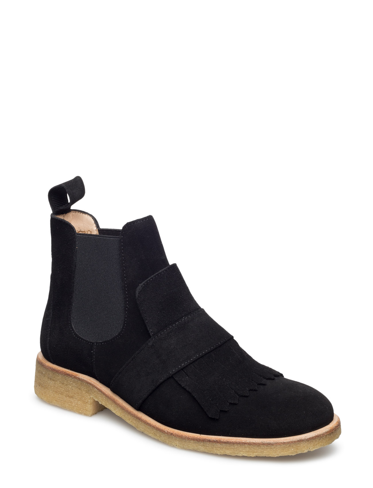 Image of Booties - Flat - With Elastic Shoes Boots Chelsea Boots Ankle Boot - Flat Sort ANGULUS (3452075707)