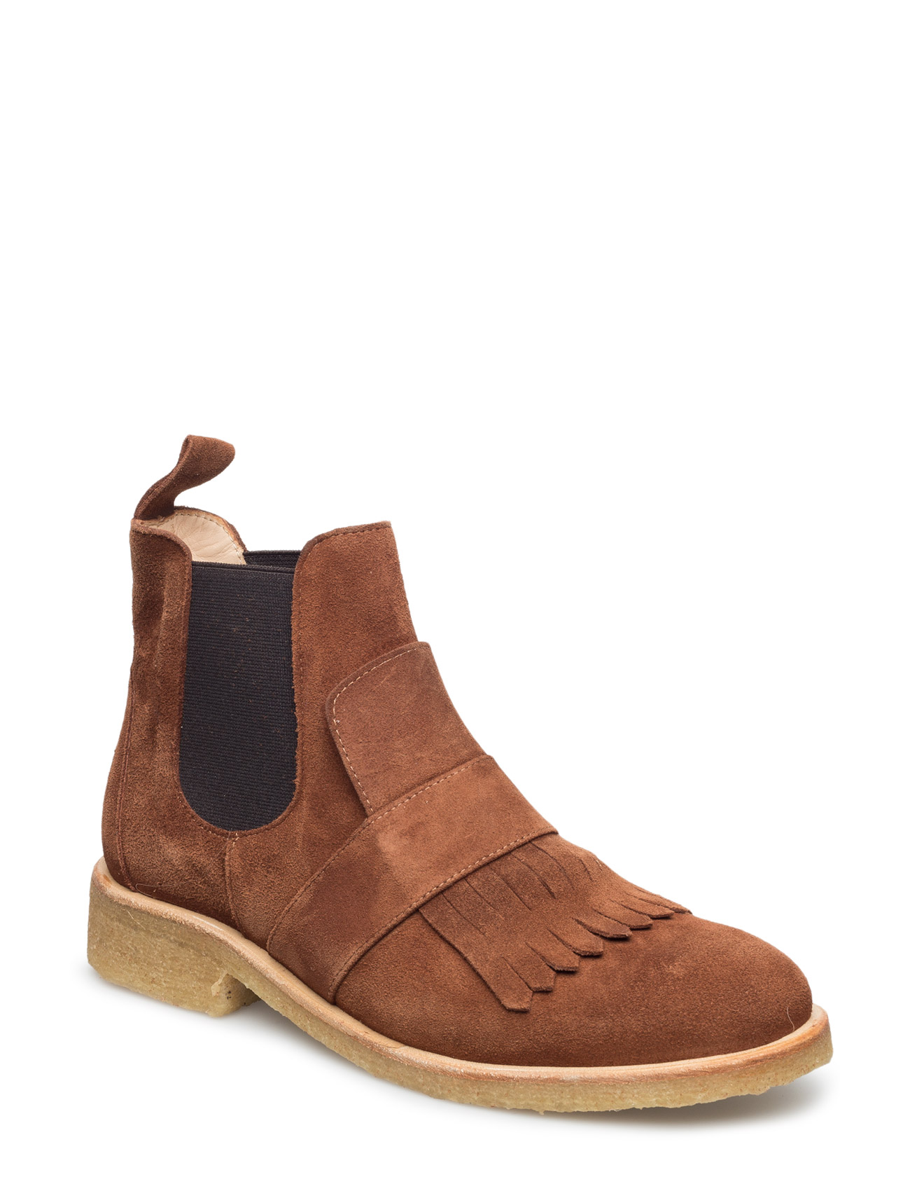 Image of Booties - Flat - With Elastic Shoes Boots Chelsea Boots Ankle Boot - Flat Brun ANGULUS (3452075711)