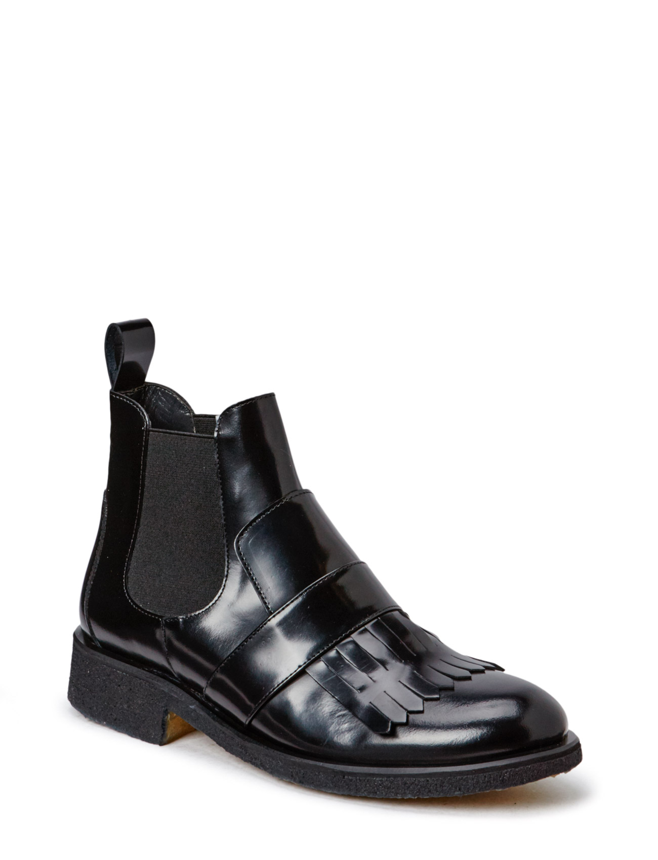 Image of Booties - Flat - With Elastic Shoes Boots Chelsea Boots Ankle Boot - Flat Sort ANGULUS (3452093509)