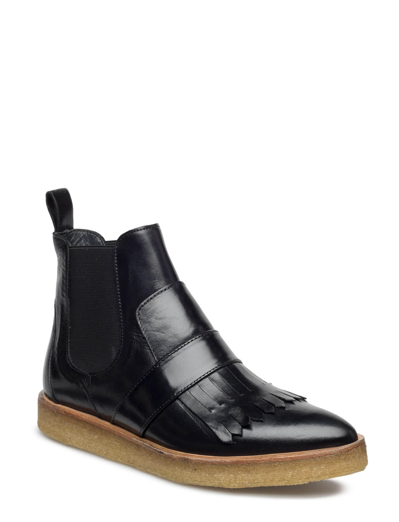 Image of Booties - Flat - With Elastic Shoes Boots Chelsea Boots Ankle Boot - Flat Sort ANGULUS (3452077983)