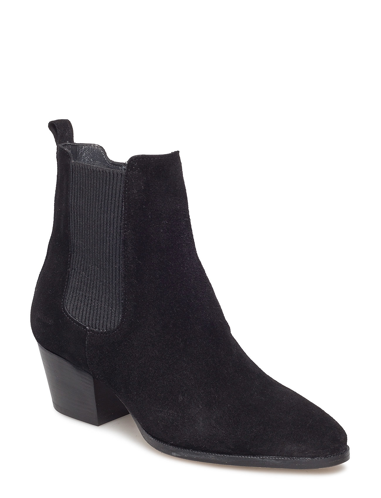 Image of Booties - Block Heel - With Elas Shoes Boots Ankle Boots Ankle Boot - Heel Sort ANGULUS (3470936657)