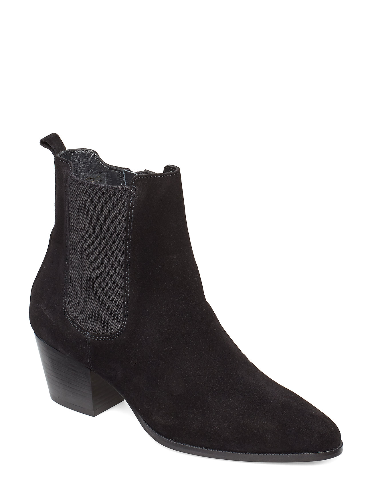 Image of Booties - Block Heel - With Elas Shoes Boots Ankle Boots Ankle Boot - Heel Sort ANGULUS (3490301821)