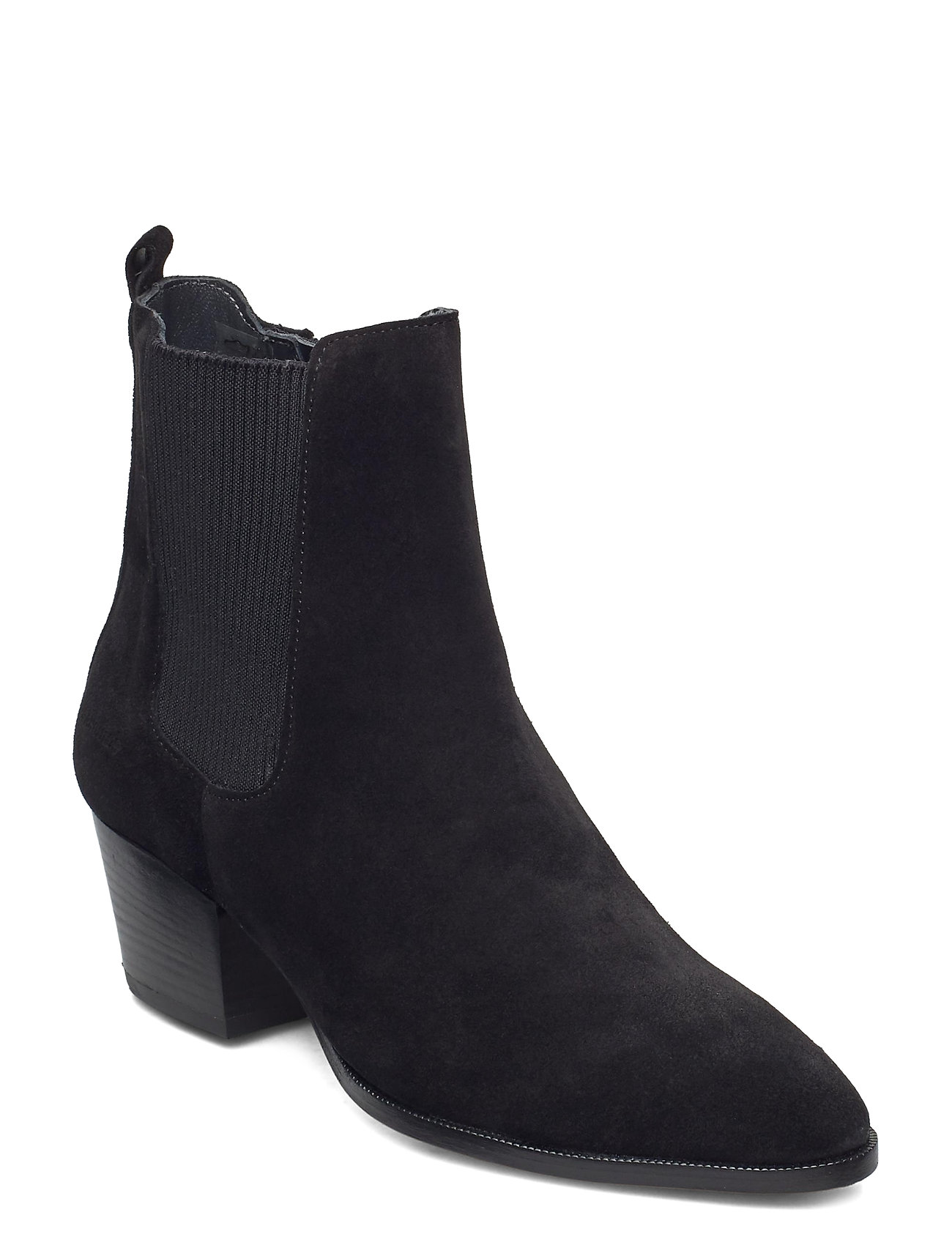 Image of Booties - Block Heel - With Elas Shoes Boots Ankle Boots Ankle Boot - Heel Sort ANGULUS (3471452231)