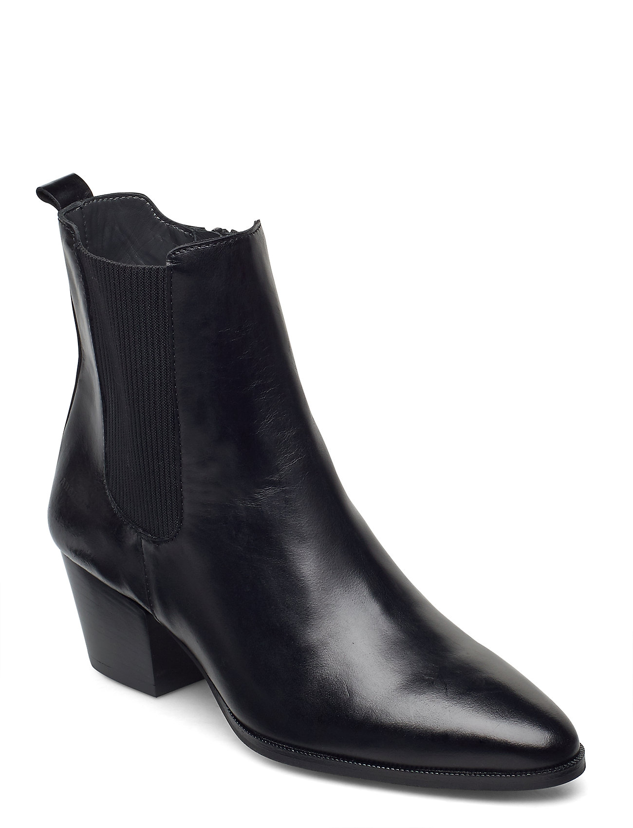 Image of Booties - Block Heel - With Elas Shoes Boots Ankle Boots Ankle Boot - Heel Sort ANGULUS (3440208137)