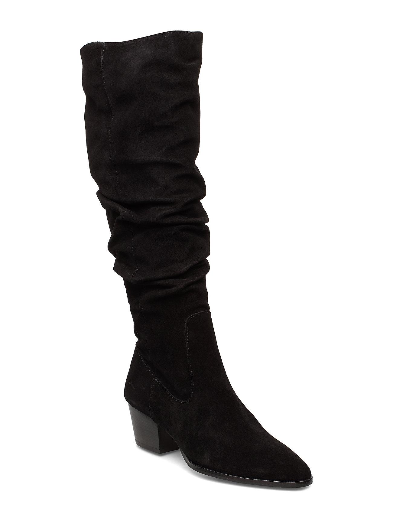 Image of Bootie - Block Heel - With Zippe Lange Støvler Sort ANGULUS (3234149775)