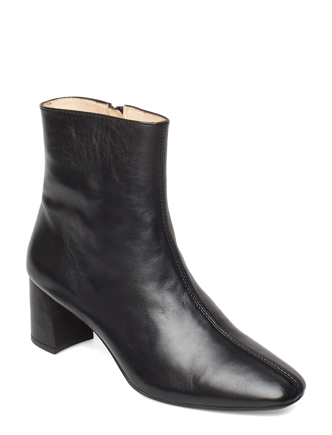 Image of Bootie - Block Heel - With Zippe Shoes Boots Ankle Boots Ankle Boot - Heel Sort ANGULUS (3483608705)