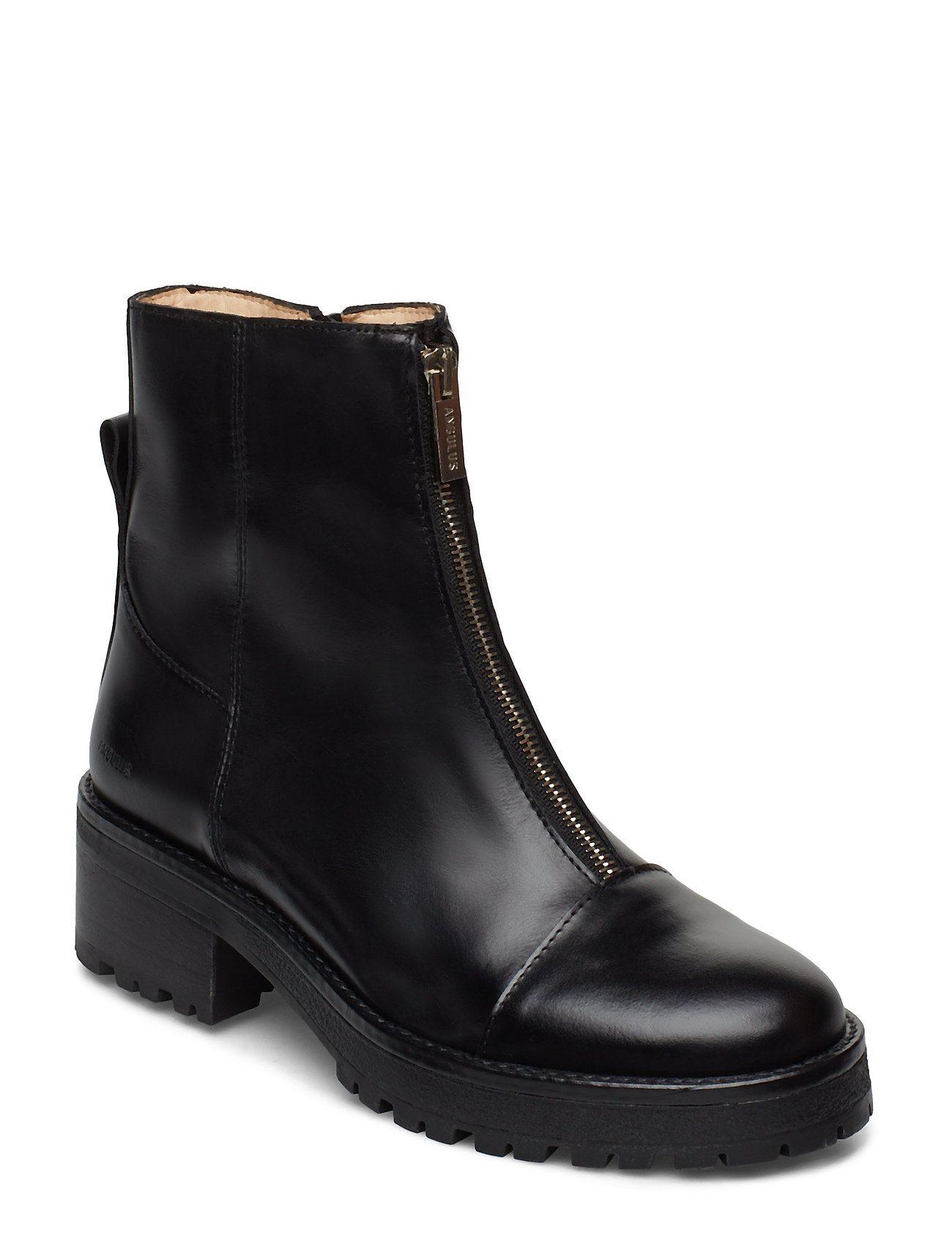 Image of Booties - Flat - With Zipper Shoes Boots Ankle Boots Ankle Boots Flat Heel Sort ANGULUS (3215337517)