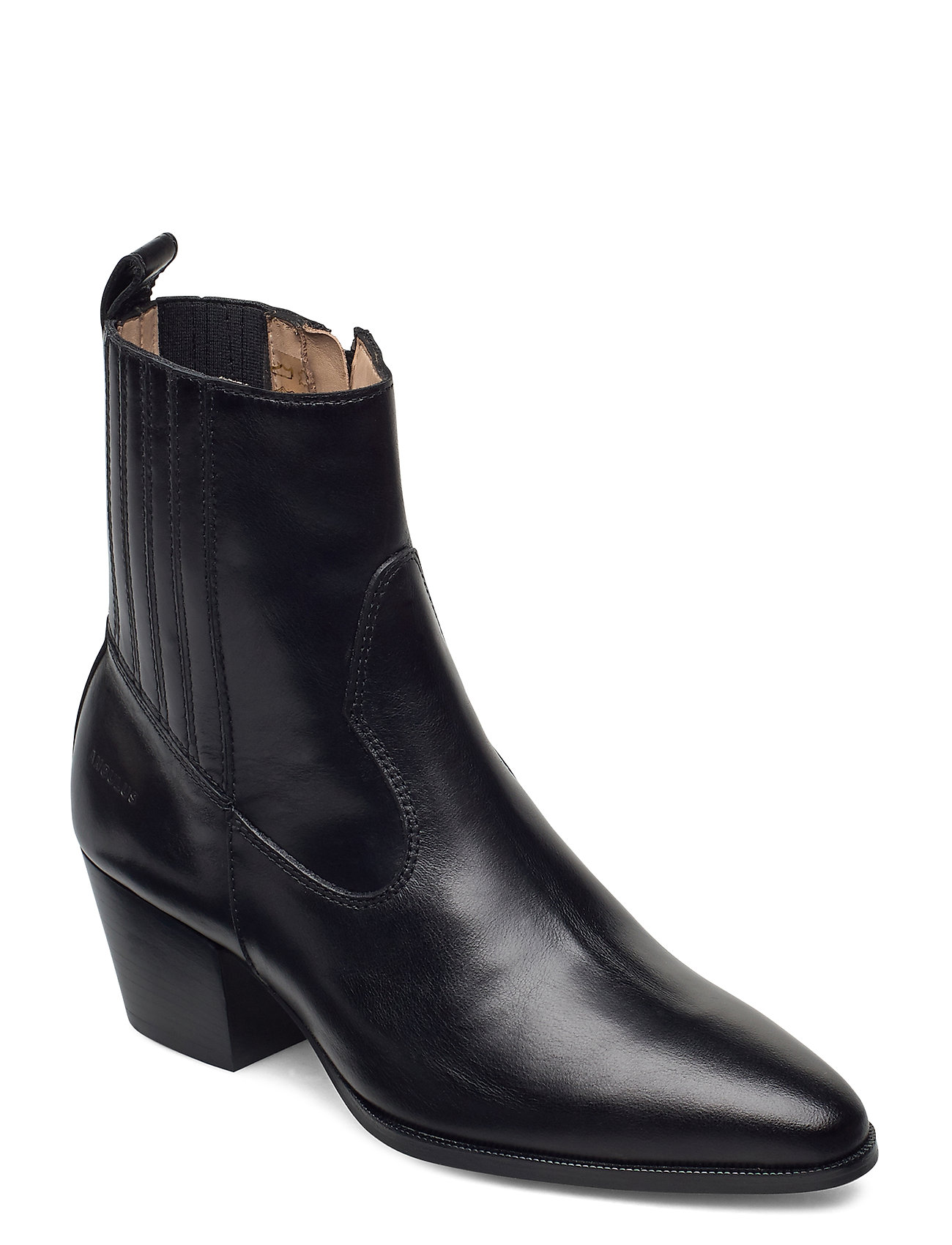Image of Booties - Block Heel - With Elas Shoes Boots Ankle Boots Ankle Boot - Heel Sort ANGULUS (3440209317)