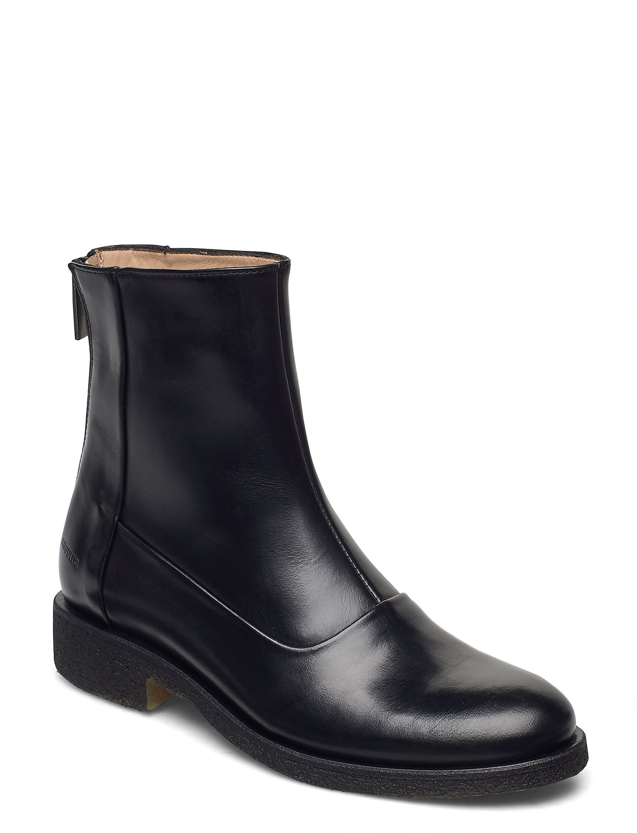 Image of Booties - Flat - With Zipper Shoes Boots Ankle Boots Ankle Boot - Flat Sort ANGULUS (3440209323)