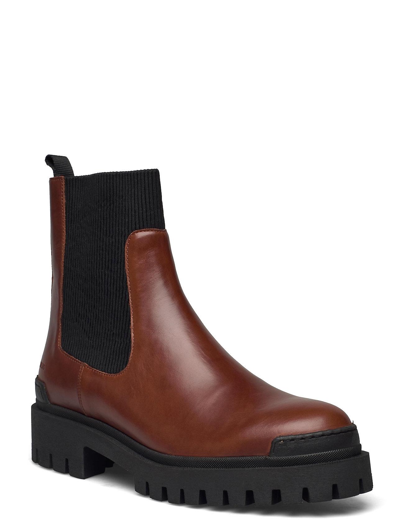 Boots - Flat Shoes Chelsea Boots Brun ANGULUS