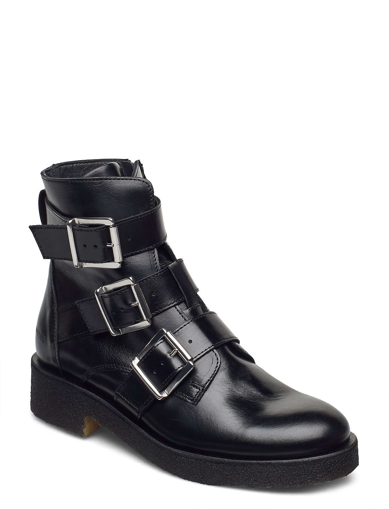 Image of Booties - Flat - With Zipper Shoes Boots Ankle Boots Ankle Boot - Flat Sort ANGULUS (3440209325)