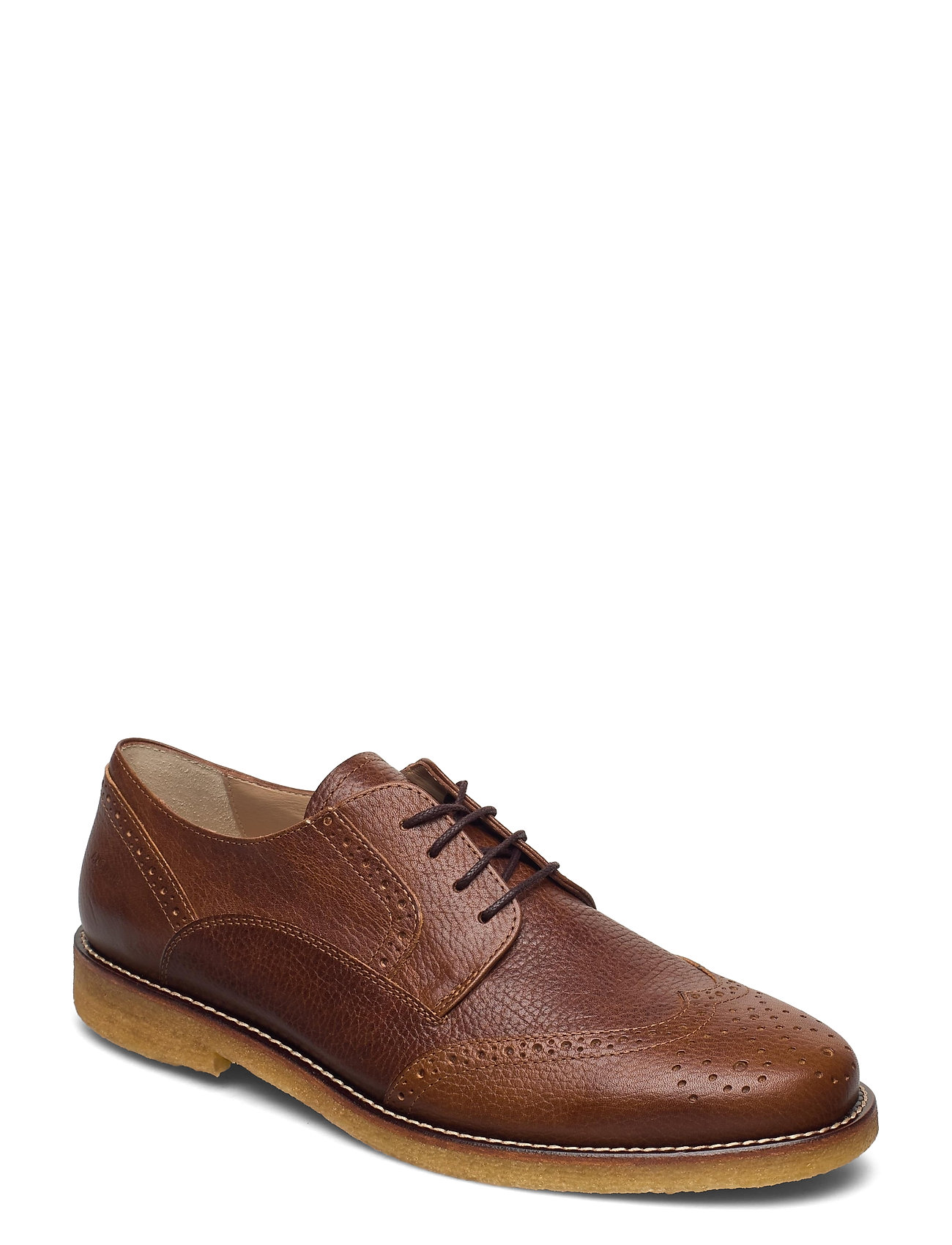 Shoes - Flat - With Lace Shoes Business Laced Shoes Brun ANGULUS