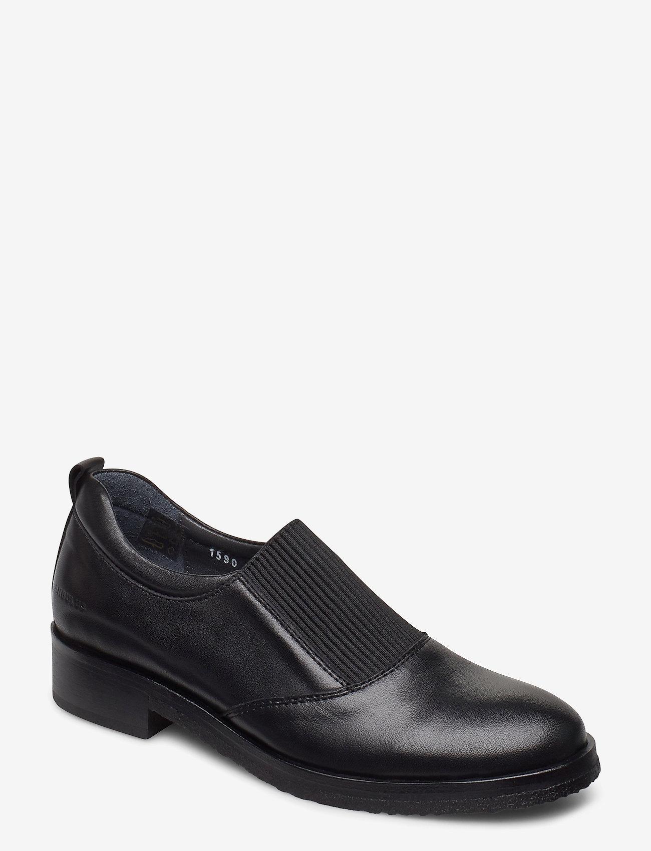 ANGULUS - Shoes - flat - with elastic - loaferit - 1604/019 black/black - 0
