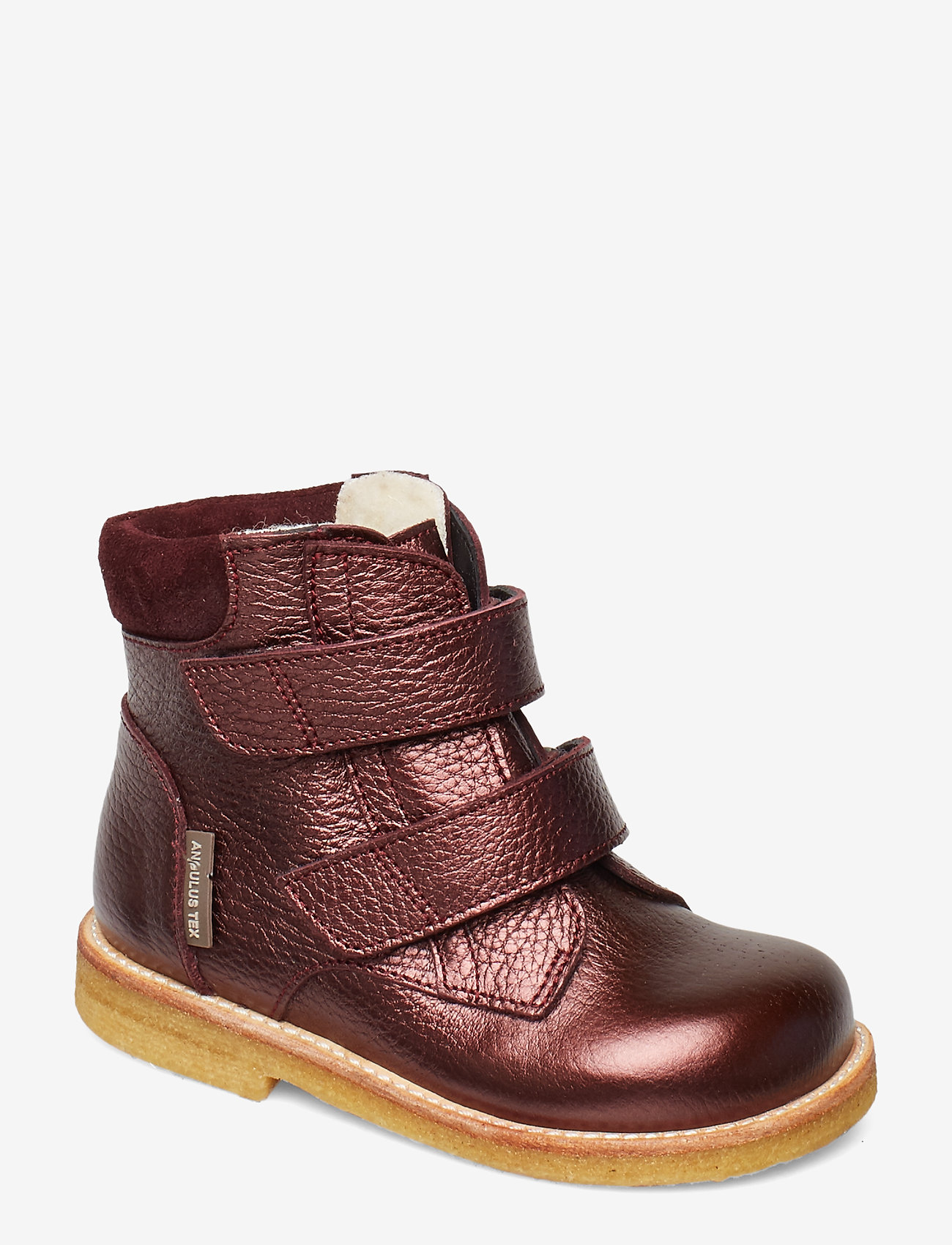 ANGULUS - Boots - flat - with velcro - lauflernschuhe - 1536/2195 bordeaux shine/b - 0