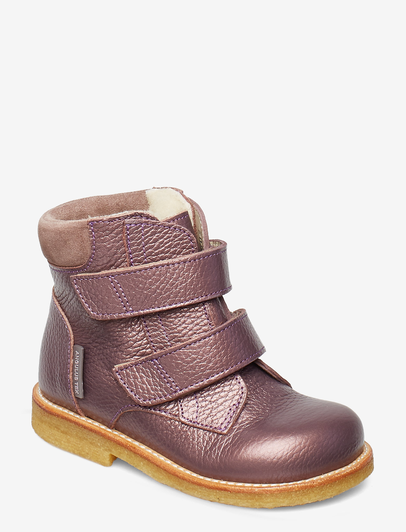 ANGULUS - Boots - flat - with velcro - lauflernschuhe - 1509/2202 lavender shine/laven - 0