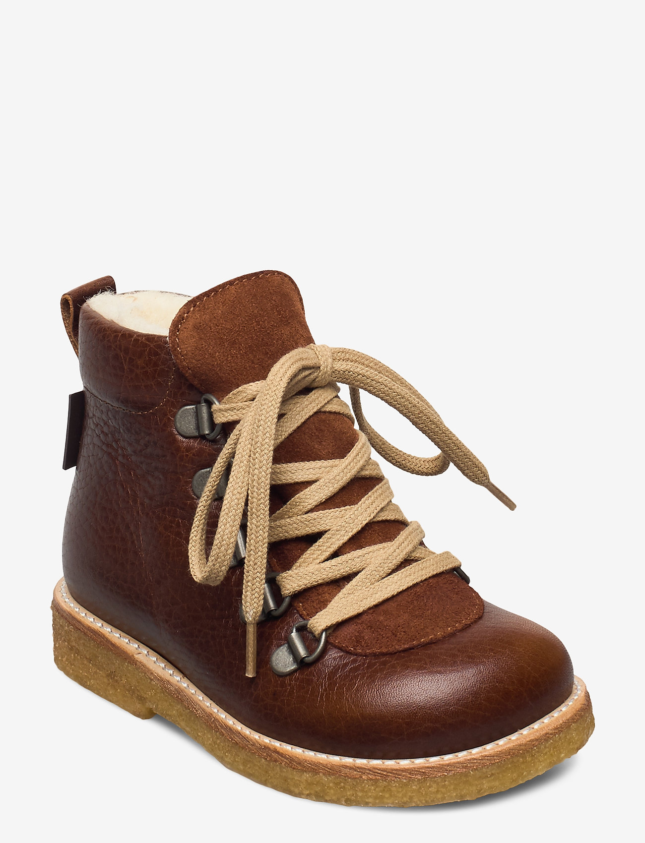 ANGULUS - Boots - flat - with lace and zip - pre-walkers - 2509/1166 medium brown/cognac - 0