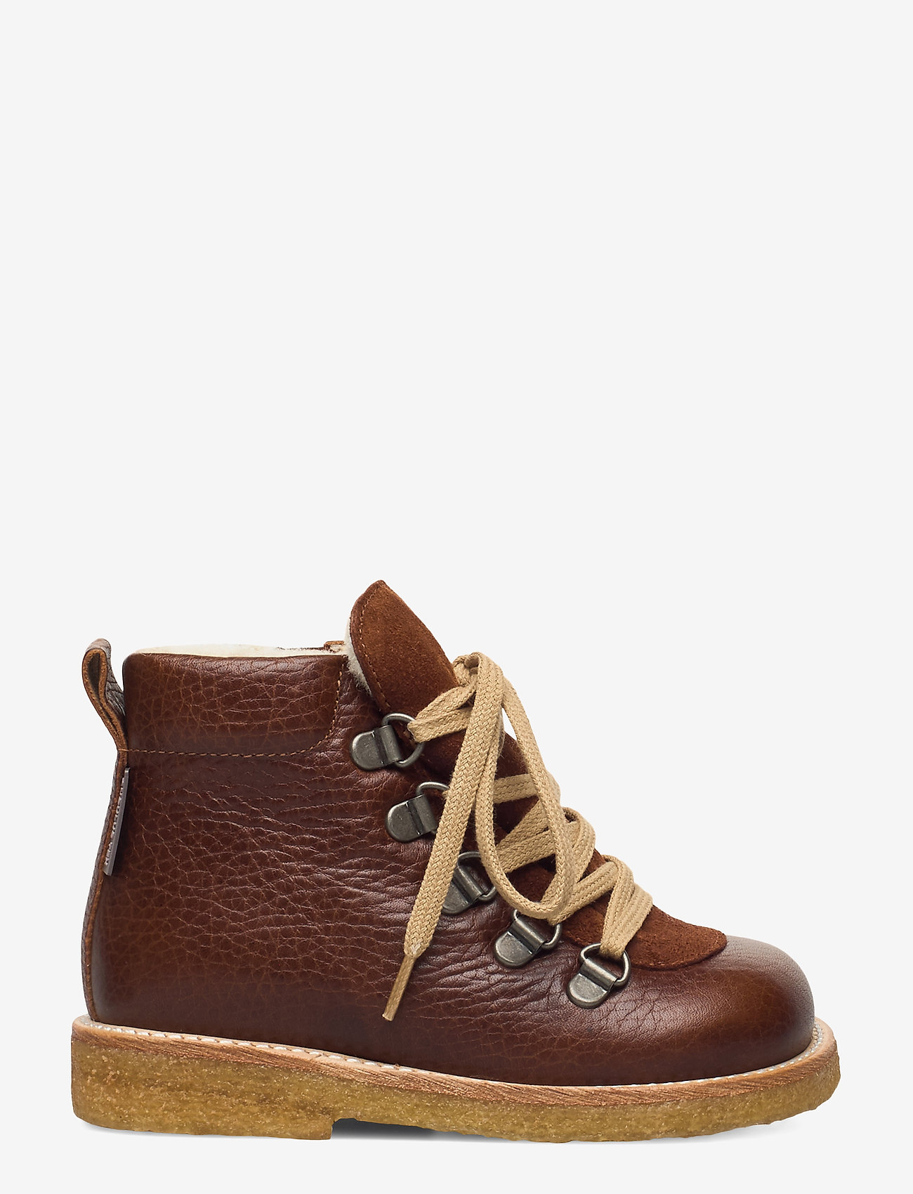 ANGULUS - Boots - flat - with lace and zip - pre-walkers - 2509/1166 medium brown/cognac - 1