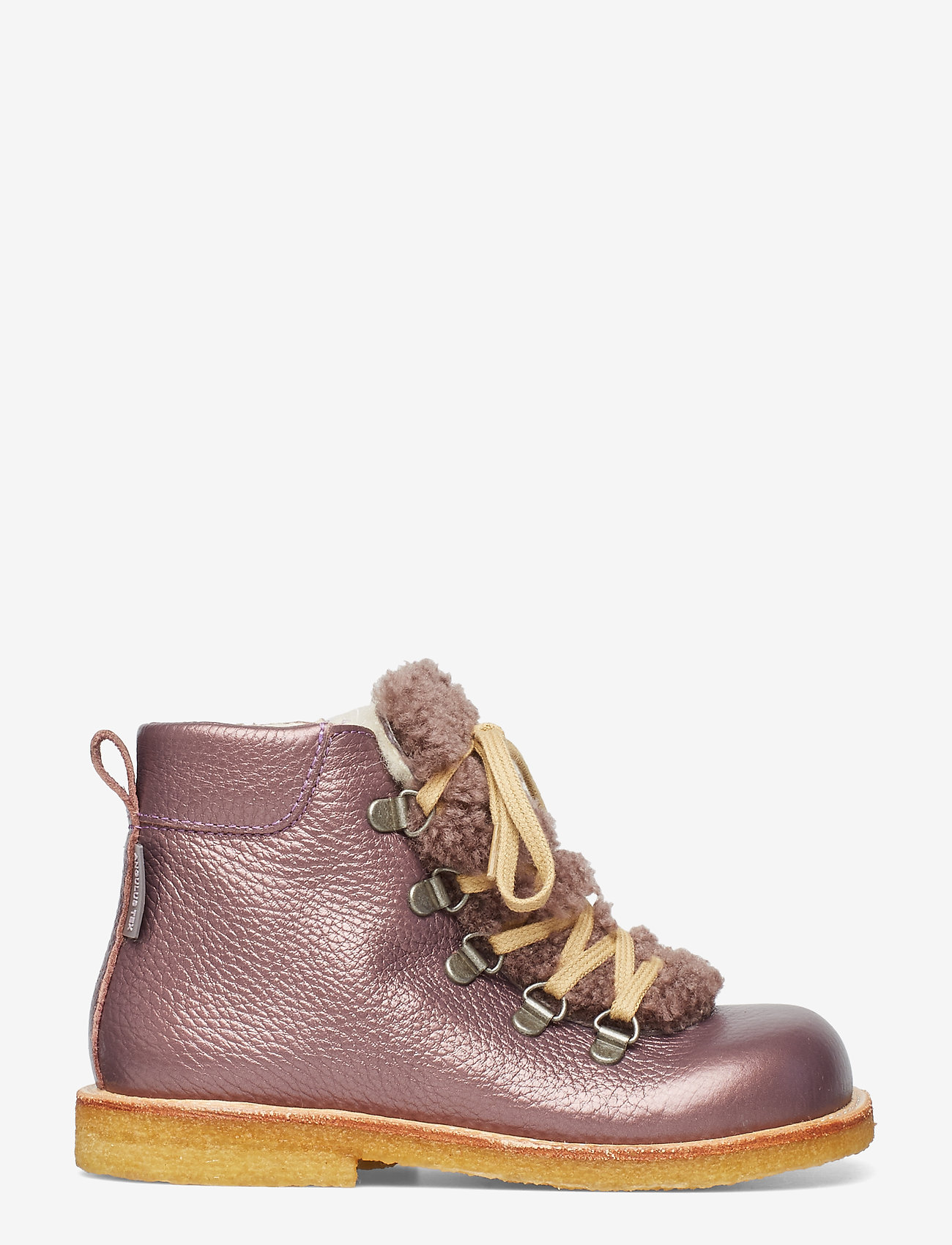 ANGULUS - Boots - flat - with lace and zip - winterstiefel - 1509/2029 lavender shine/lambs - 1