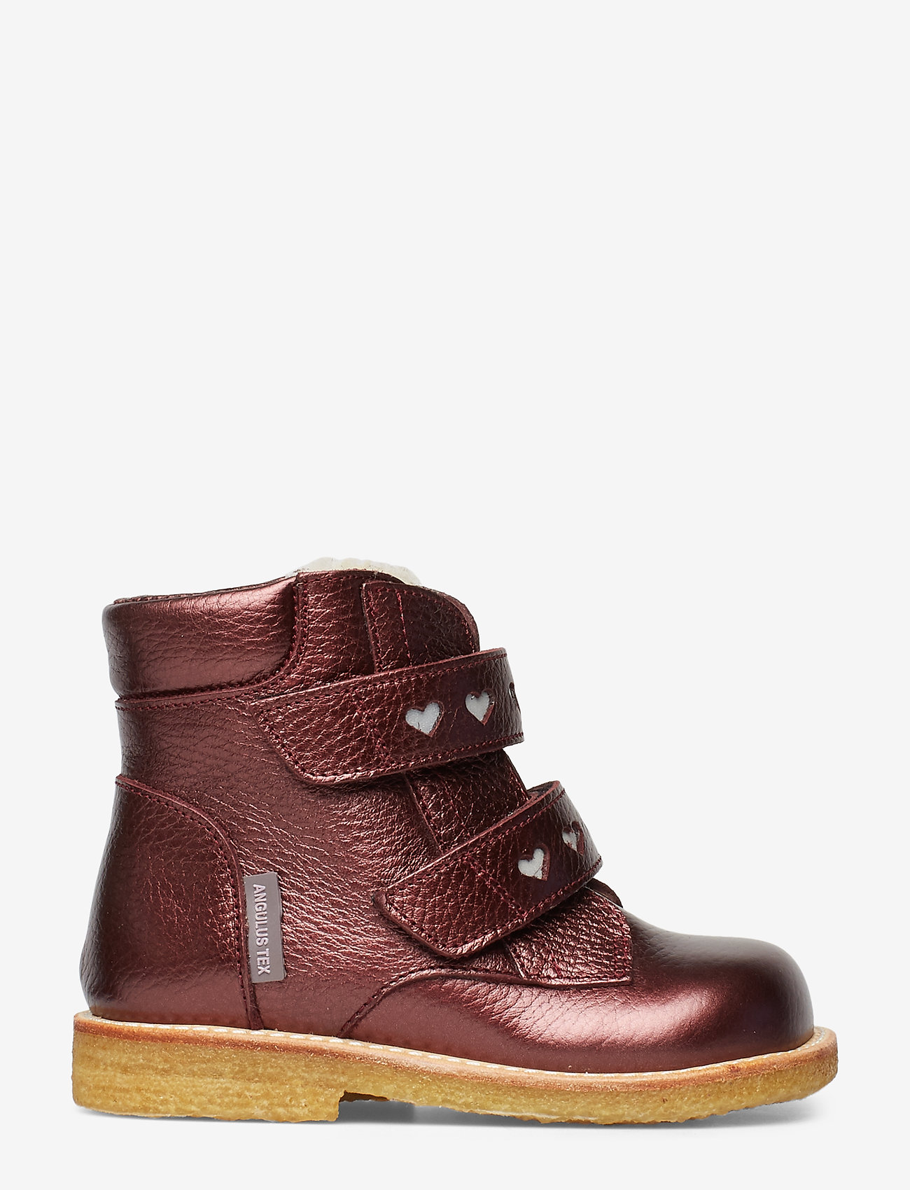 ANGULUS - Boots - flat - with velcro - lära-gå-skor - 1536/2012 bordeaux shine - 1