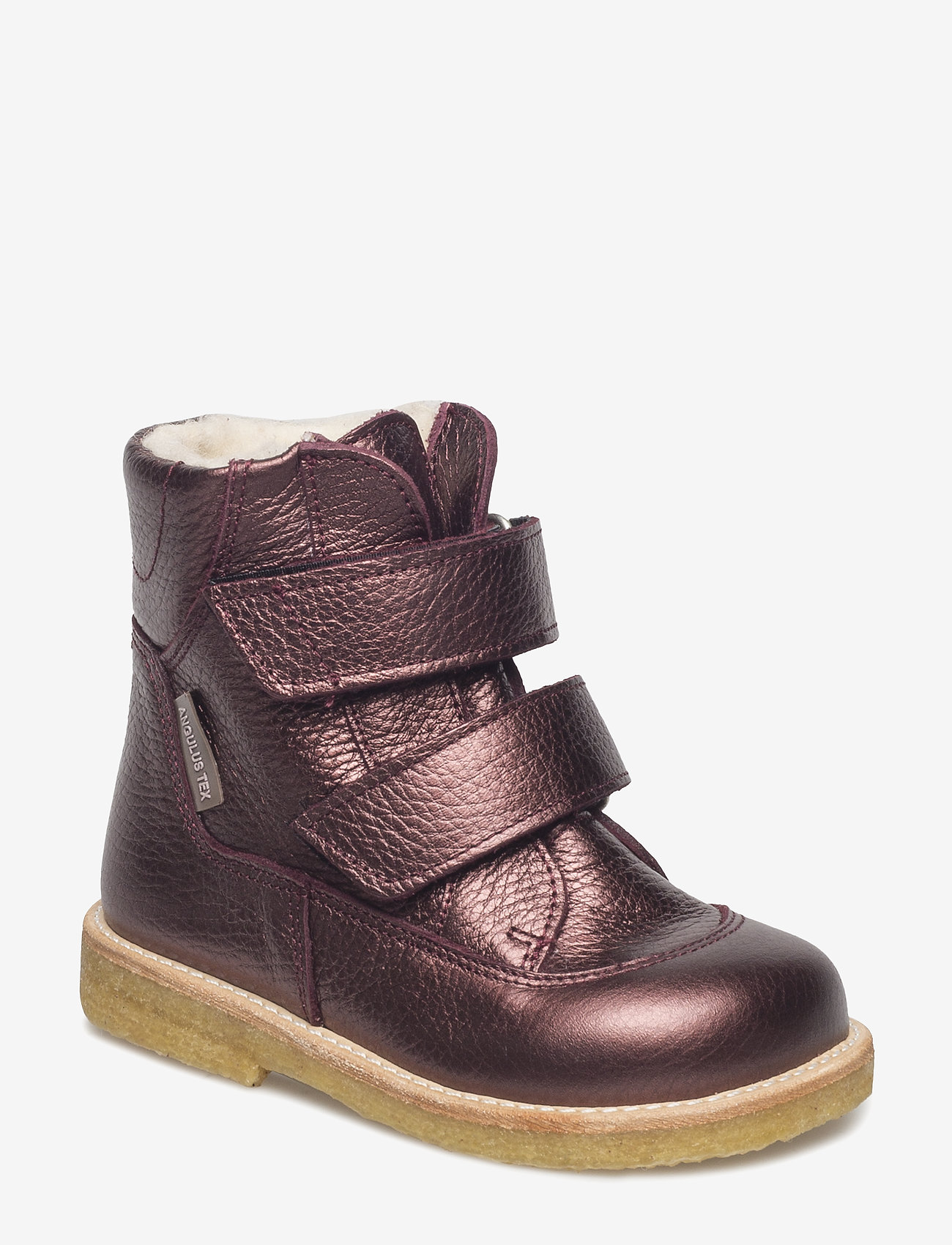 ANGULUS - Boots - flat - with velcro - stövlar & kängor - 1536 bordeaux shine - 0